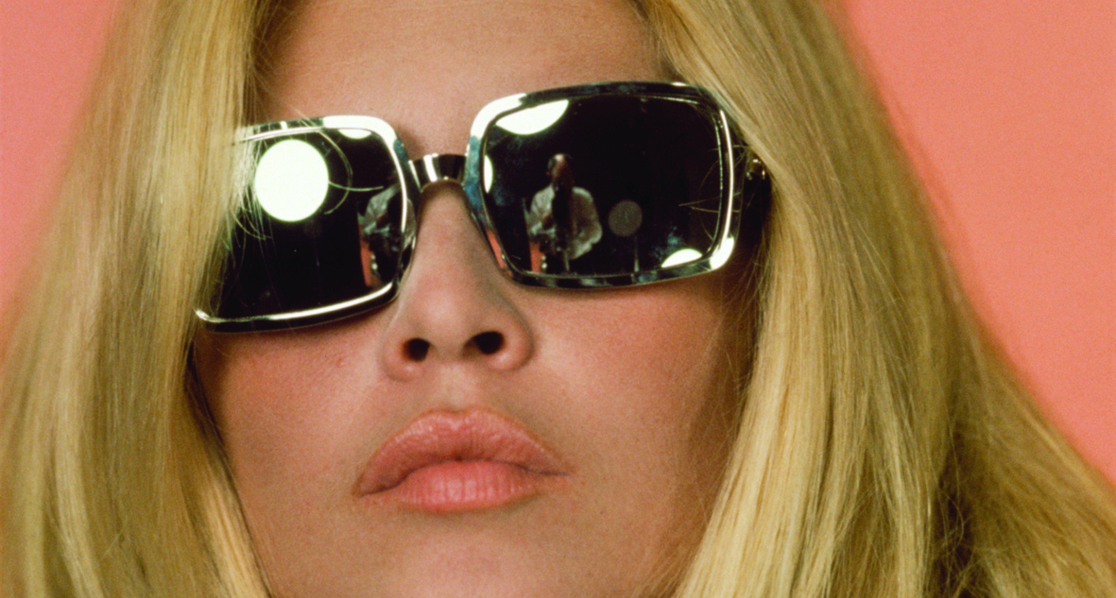 Brigitte Bardot behind mirrored shades.