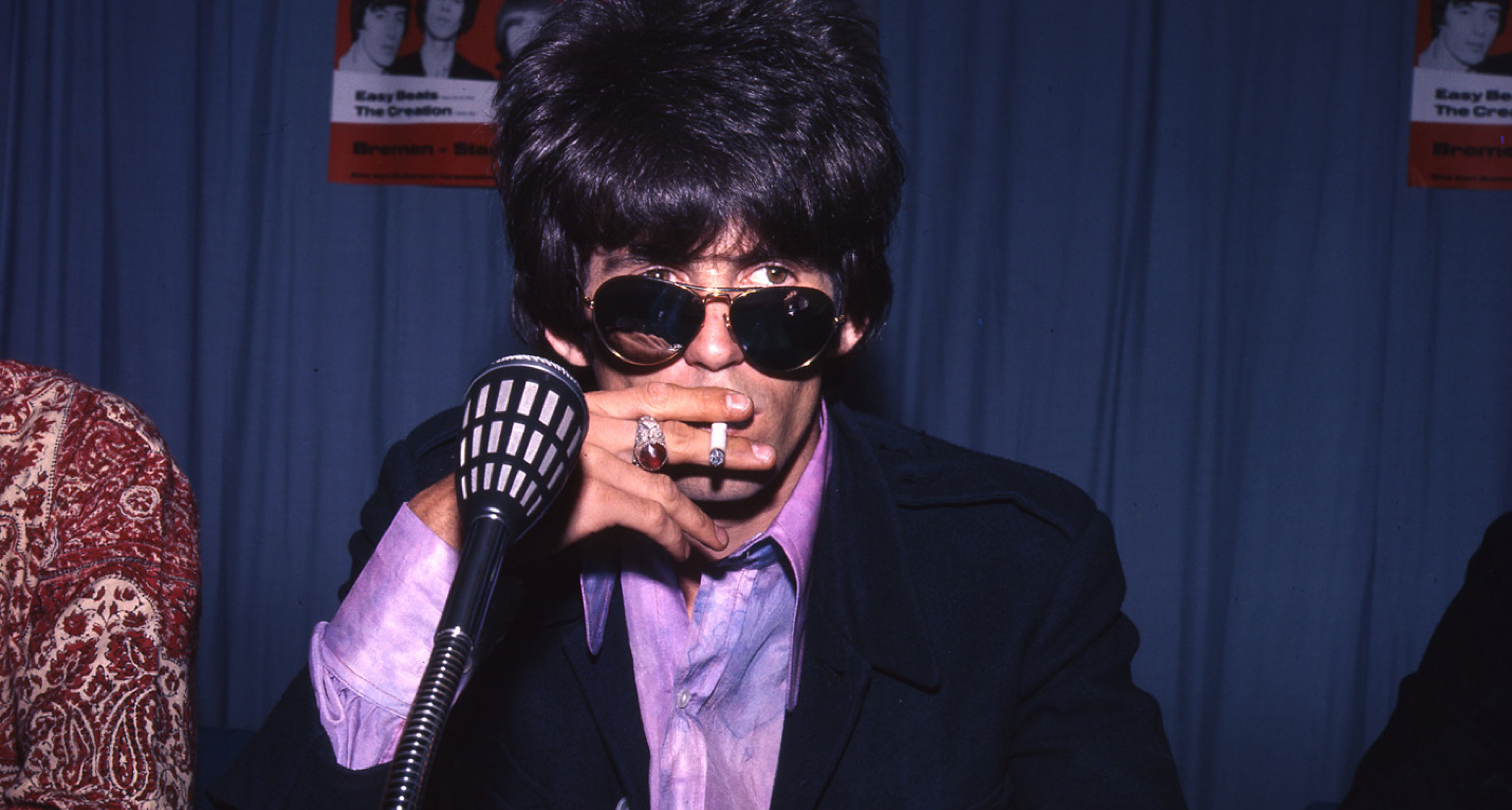 Keith Richards of the Rolling Stones at a press conference in Bremen, Germany in 1967.