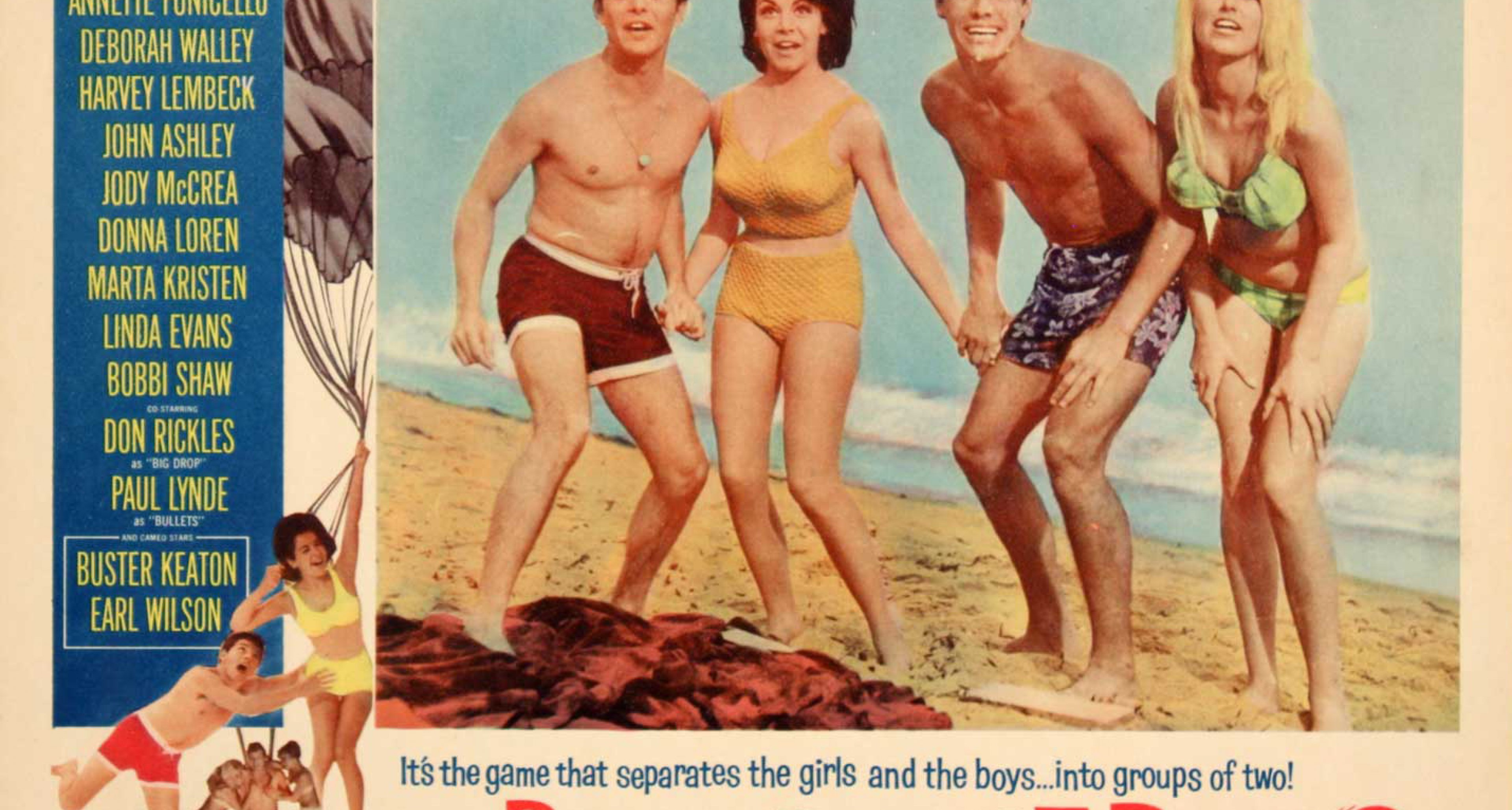 Artwork for beach party film 'Beach Blanket Bingo' starring Annette Funicello, 1965.