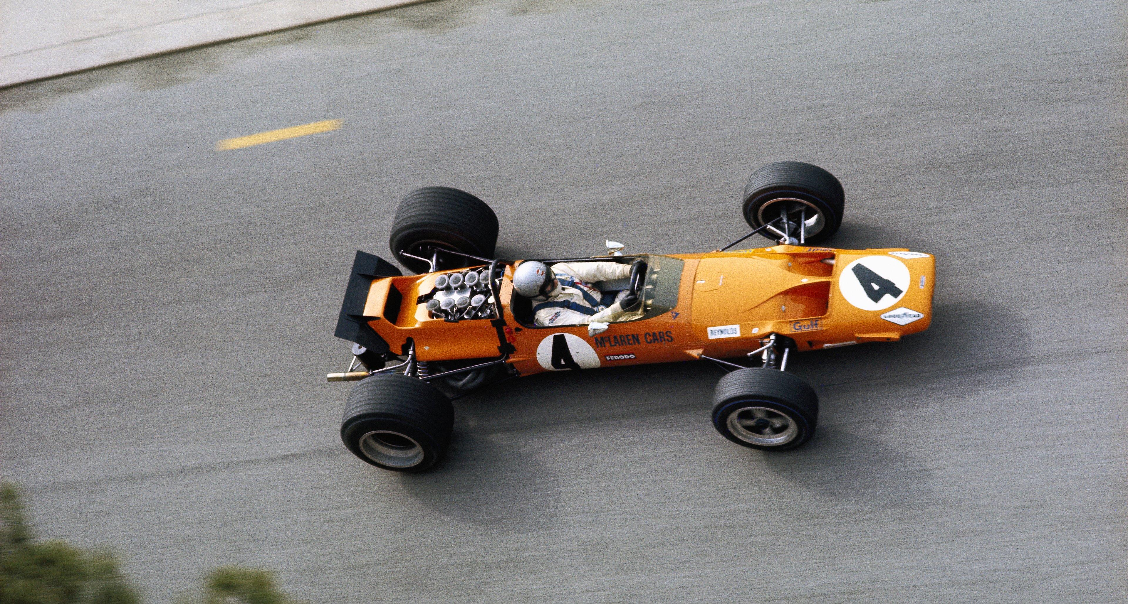 Bruce McLaren, Monaco, Monte Carlo, 18 May 1969.