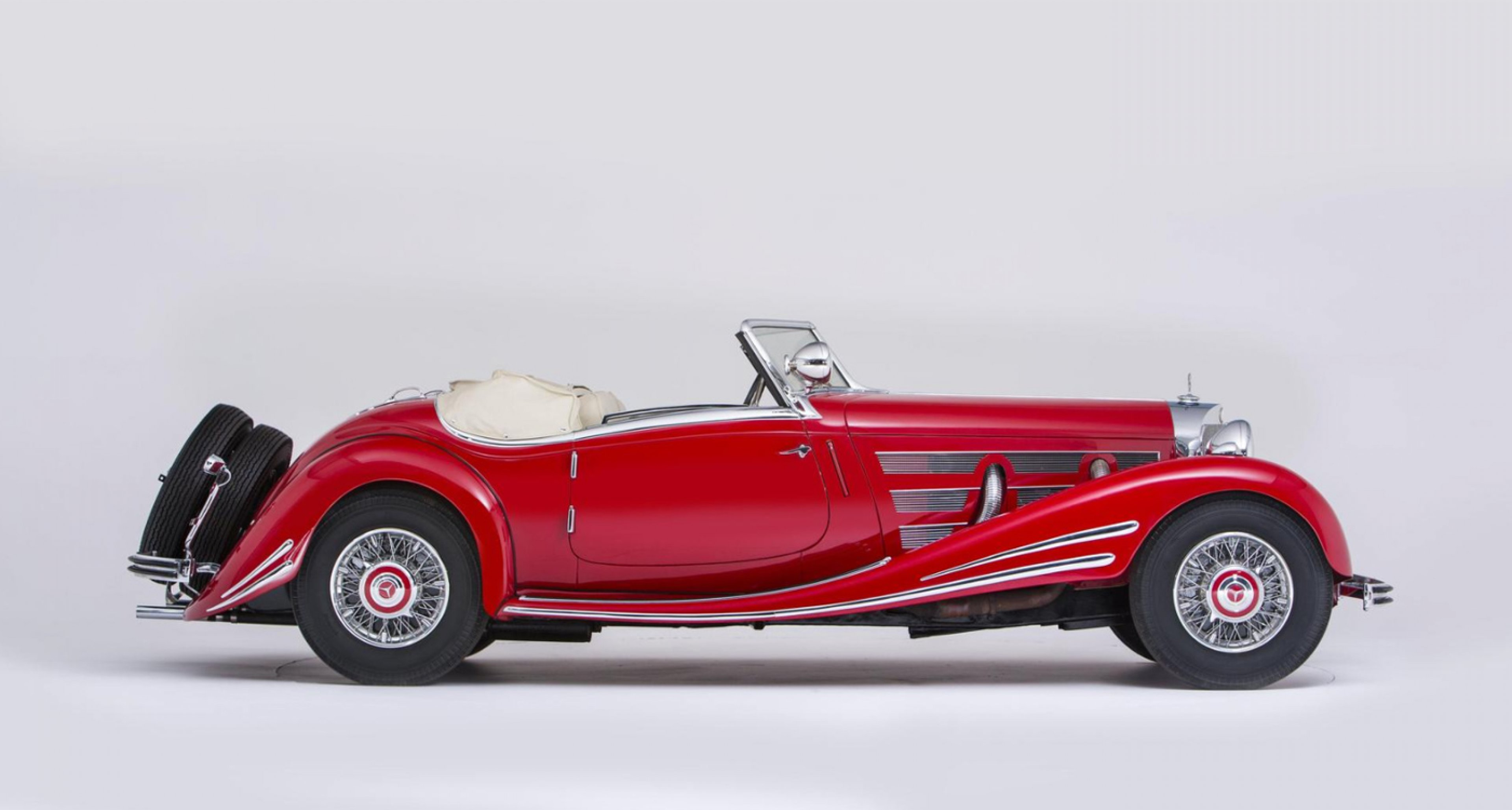 Lot 16: 1934 Mercedes-Benz 500 K/540 K (factory upgrade) Spezial Roadster 'Sold without reserve to benefit the Cancer and Alzheimer's Charities of Sweden' (€ 3.6 Mio. - 5.8 Mio.)