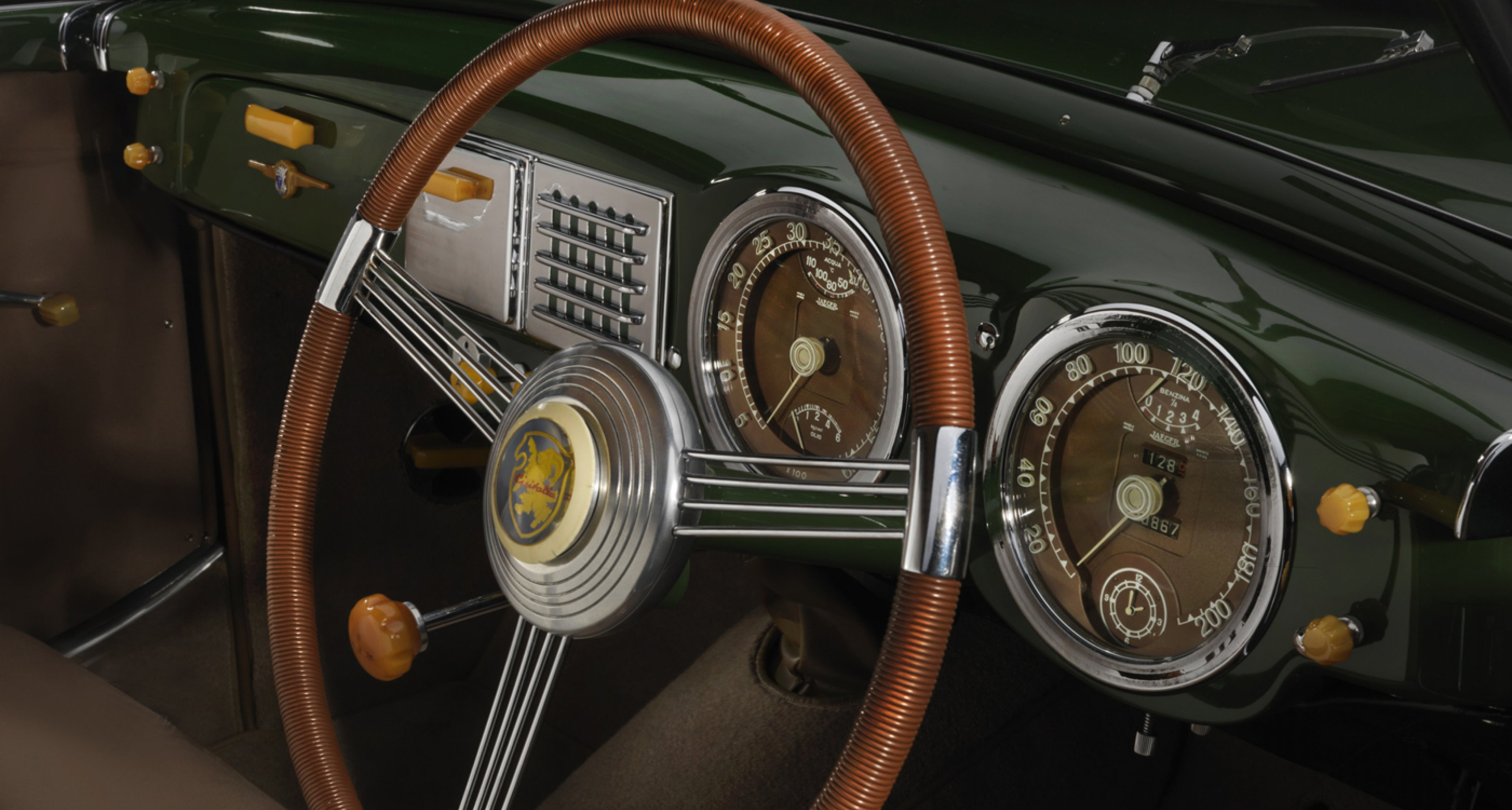 1950 Cisitalia 202 SC. Collection of the Revs Institute for Automotive Research. Image © 2015 Peter Harholdt