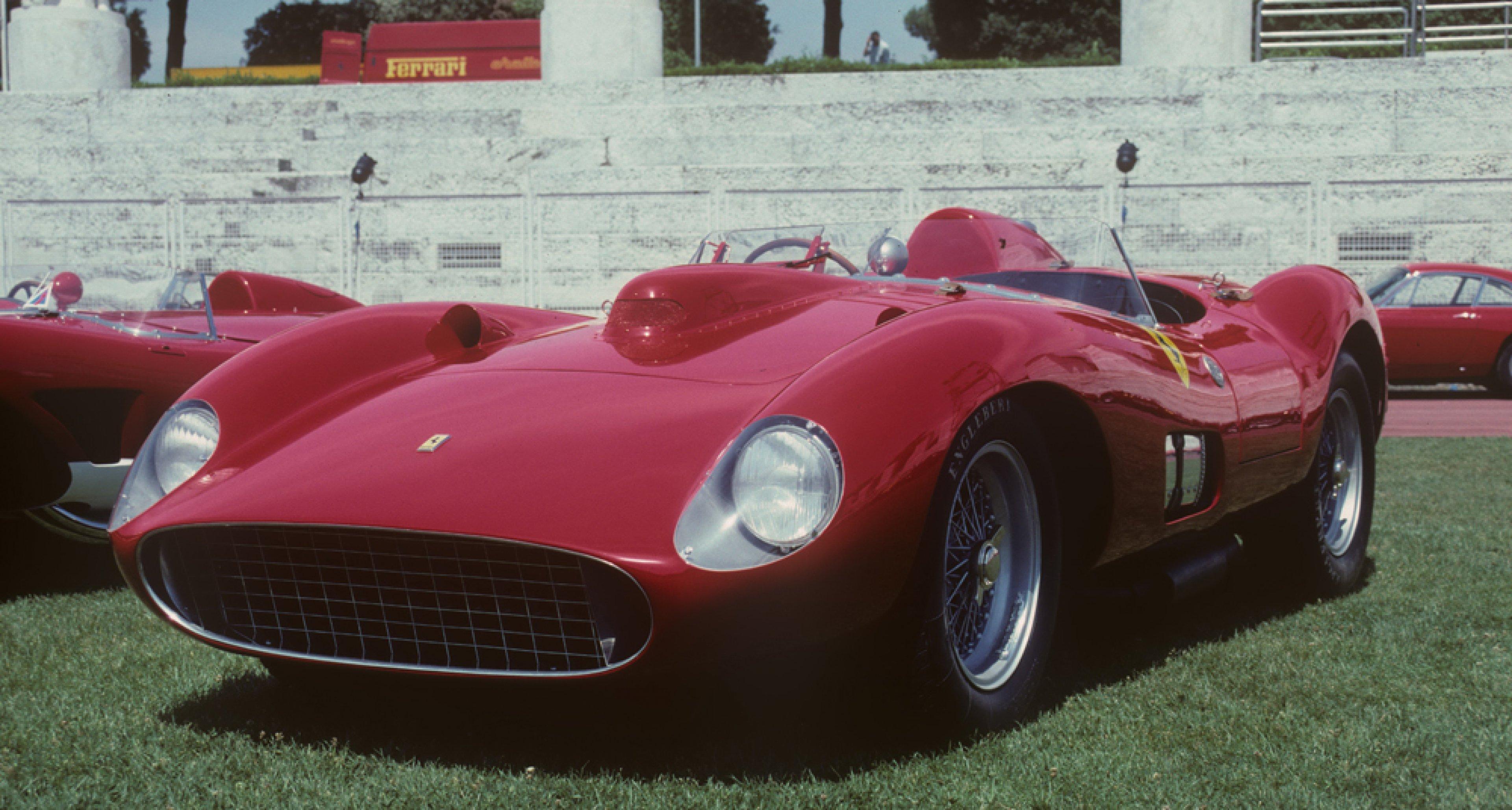 1957 Ferrari 335 S Scaglietti Spider, chassis 0674, estimate 28 - 32 M€ / 30 – 34 M$ Rome 1997, © Marcel Massini