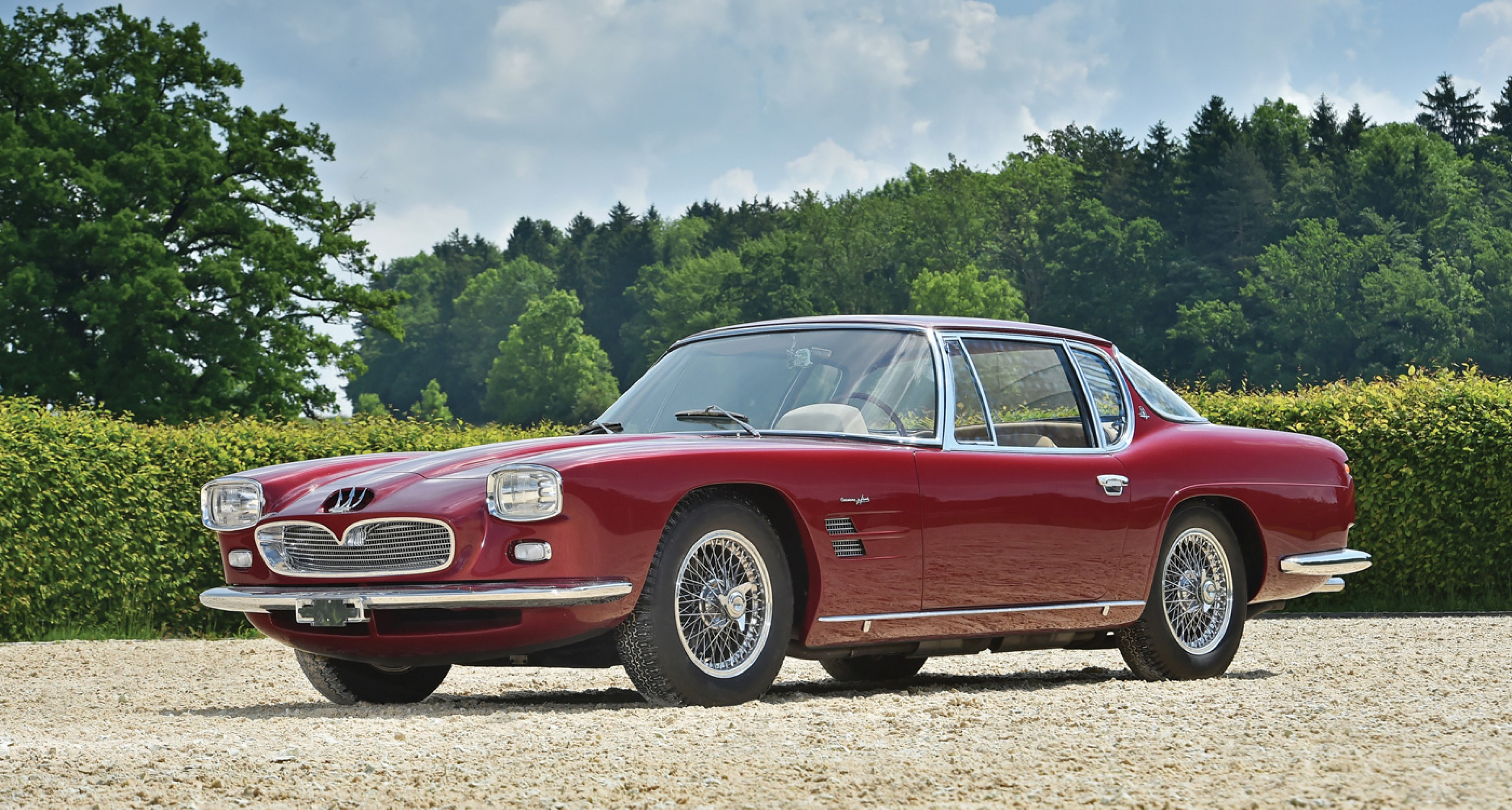 1963 Maserati 5000 GT by Frua to be auctioned at RM's Monterey auction 2014 (Estimate: $2,200,000 and $2,900,000)