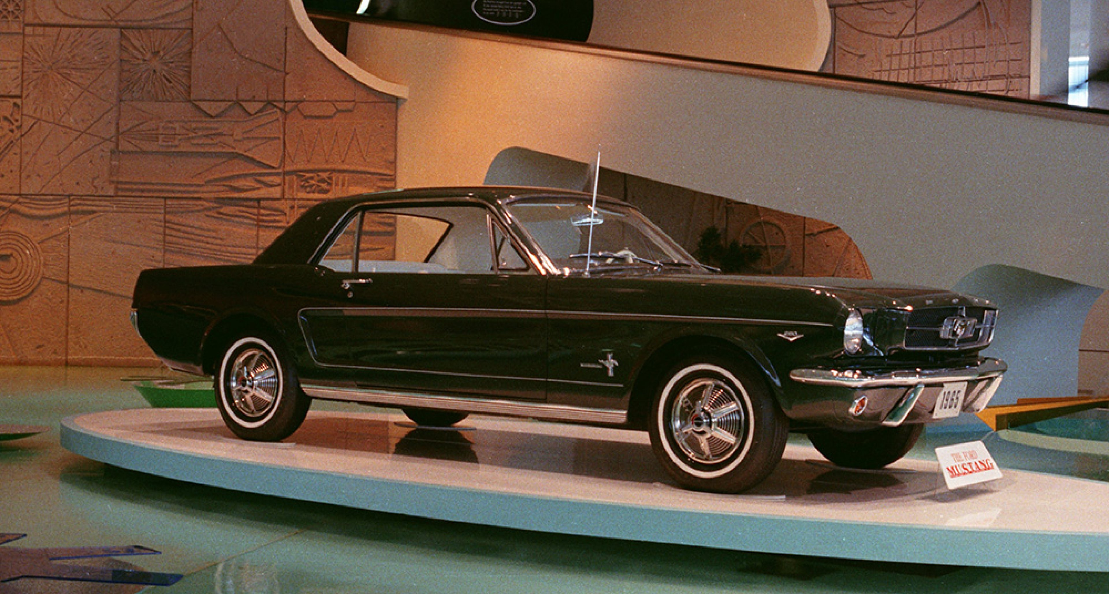 The first Ford Mustang at the 1964 New York World's Fair.