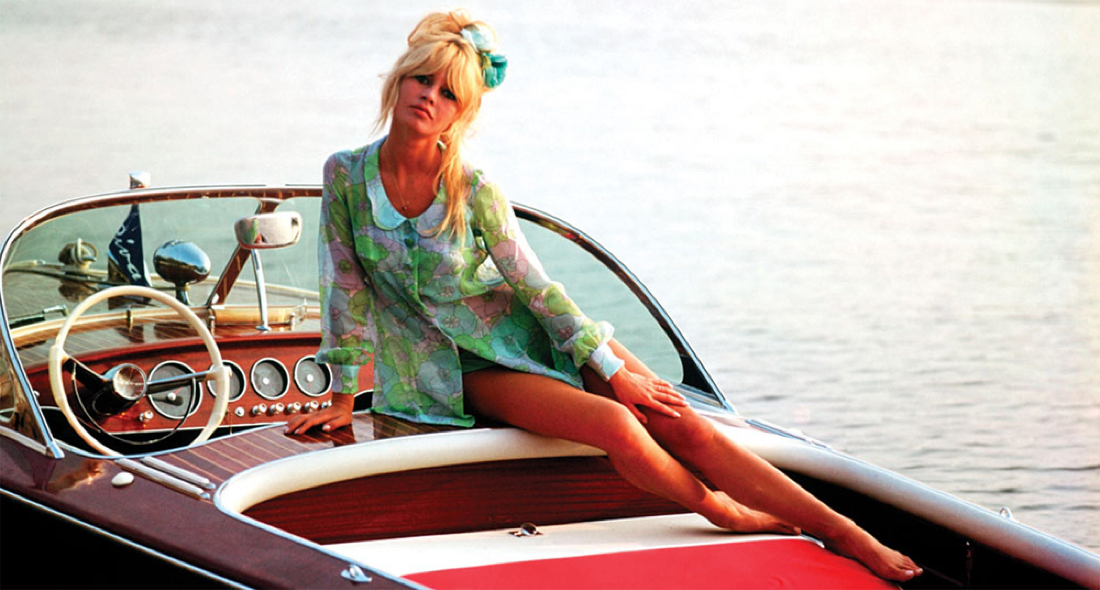 Brigitte Bardot with her Nounours in St Tropez in 1962. Courtesy of Ghislain Dussart/Gamma Rapho/Ghetty Images
