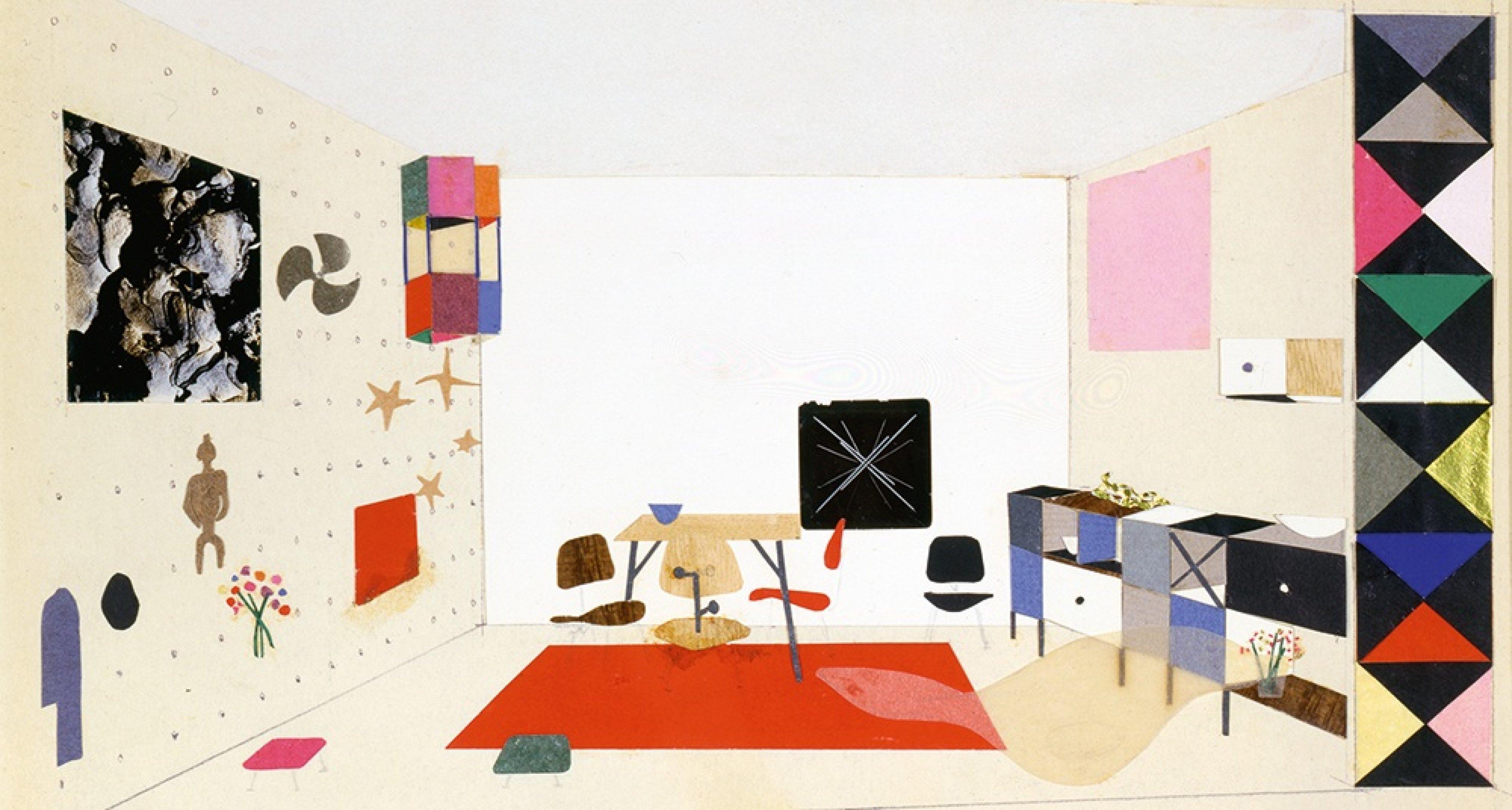 Ray Eames, Studie für eine Raumausstattung für die Ausstellung »For Modern Living«, 1949 © Eames Office LLC