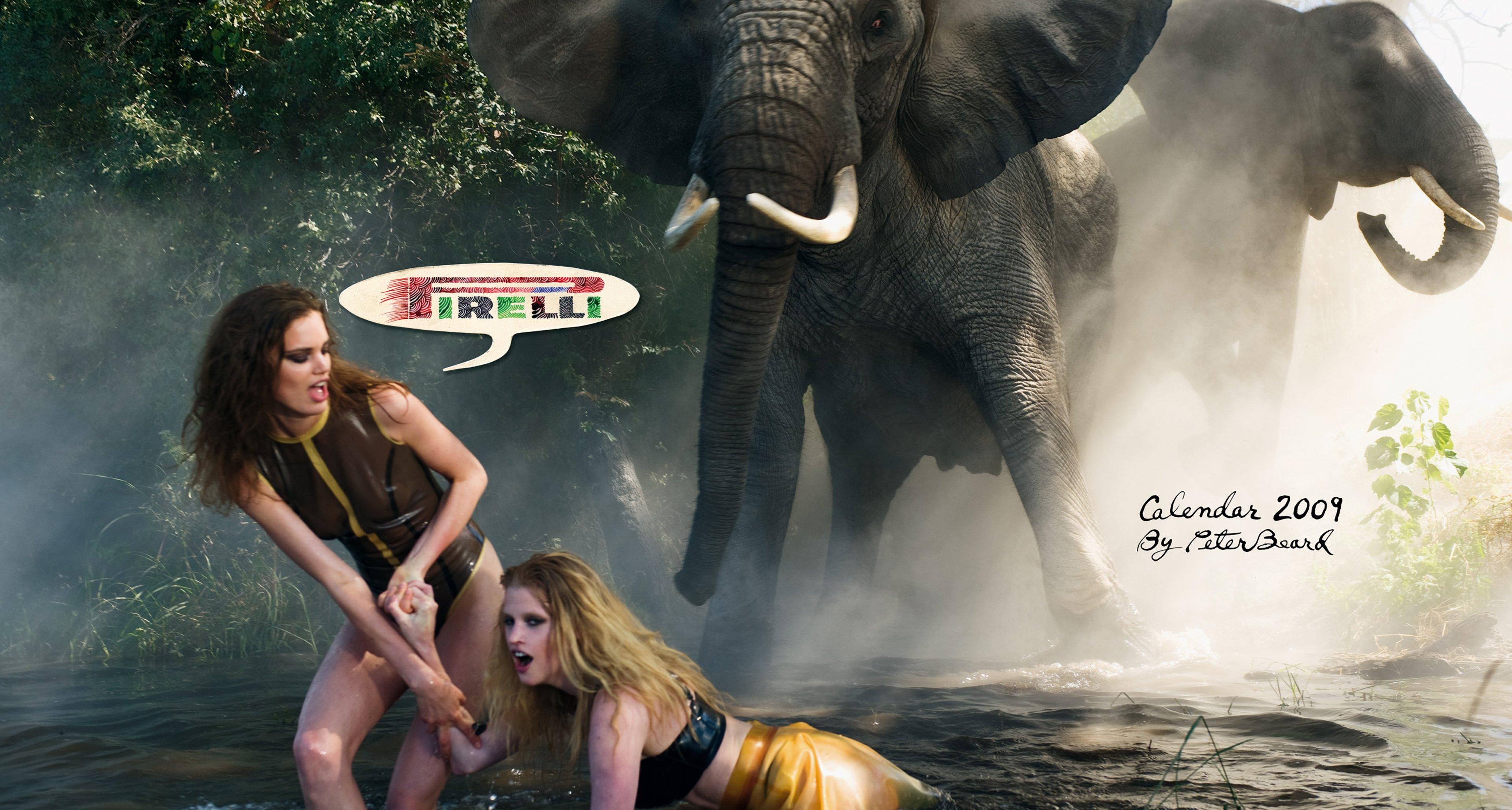Pirelli Calendar 2009: Shot by Peter Beard in Botswana