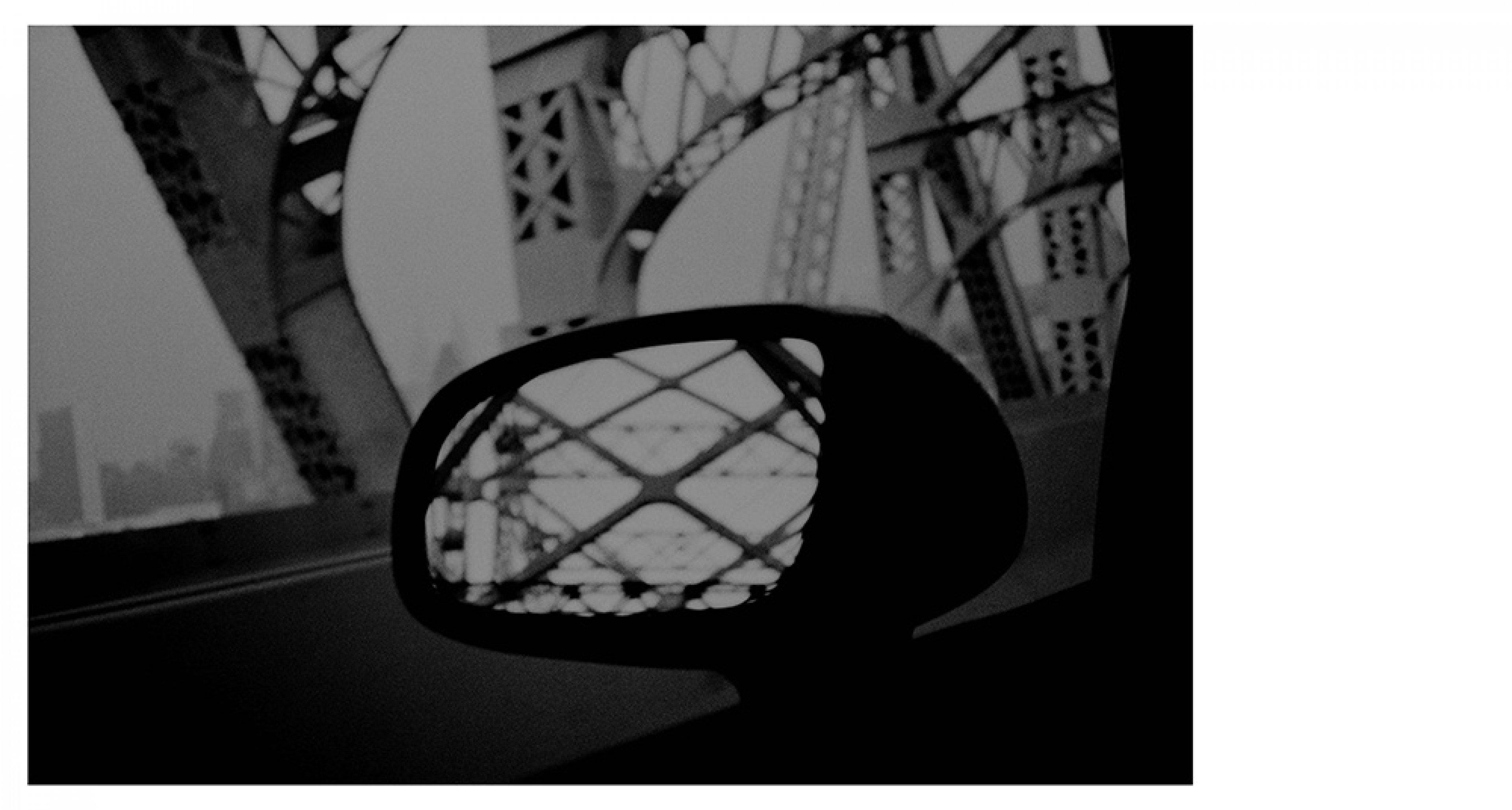 David Bradford, Coaster Ride Stealth, 1994 From Drive-By Shootings series C-print, 28 × 35.5 cm Courtesy of the artist © David Bradford