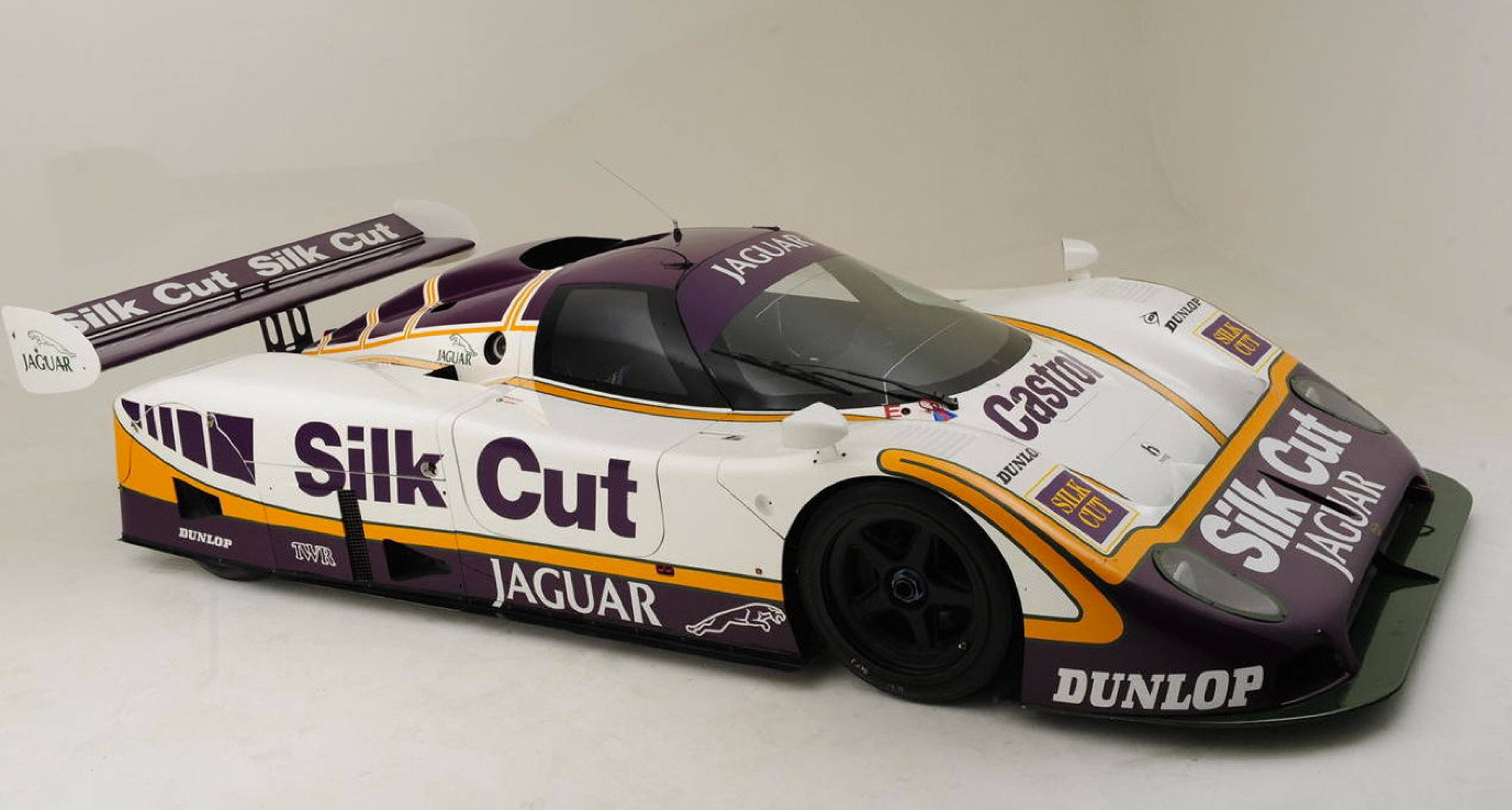 1987 Silk Cut Jaguar XJR-8 Endurance Racing Group C Coupé, estimate GBP 900,000 - 1.2 million.