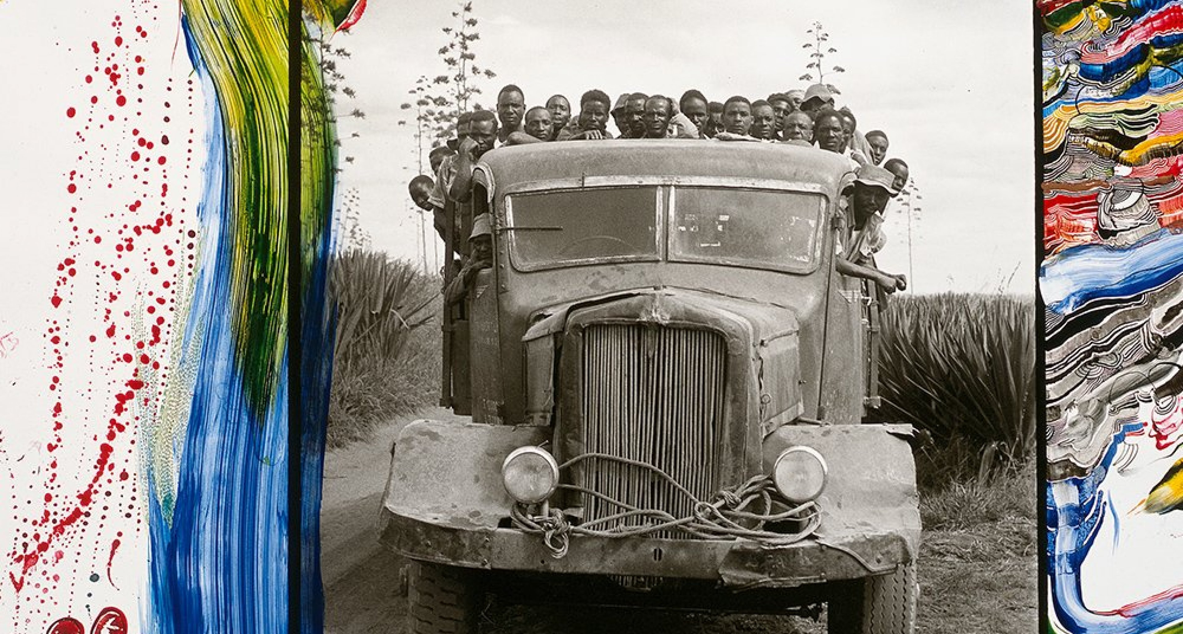 Men in Truck, Donya Sabuk, Kenya, June 1960/2002 © 2020 Peter Beard