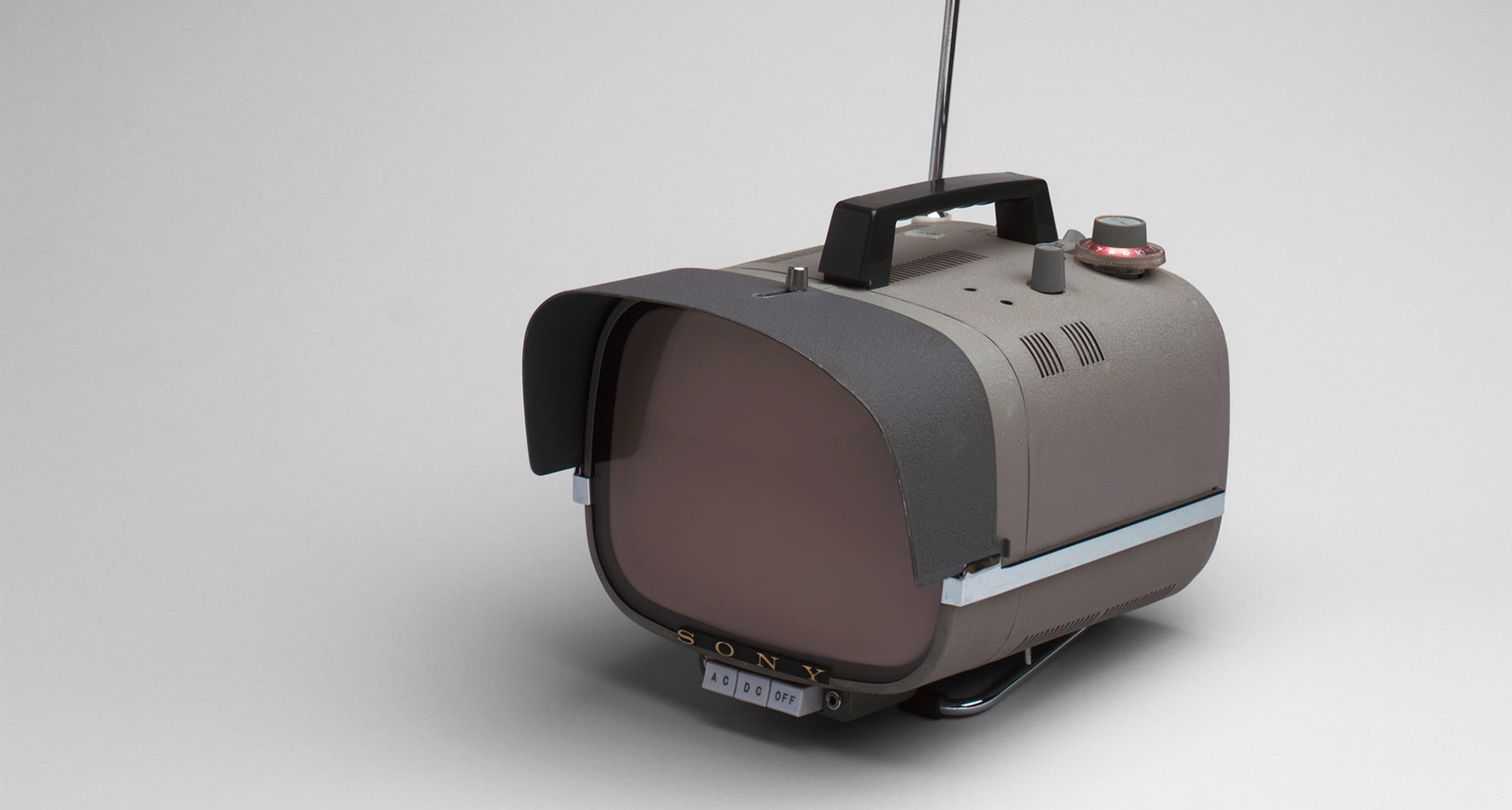 Sony Corporation (Tokyo, Japan, est. 1946). Television (TX8-301). 1959. Plastic, metal, and glass, 8 1/2 × 8 1/4 × 10″ (21.6 × 21 × 25.4 cm). The Museum of Modern Art, New York. Gift of Jo Carole and Ronald S. Lauder
