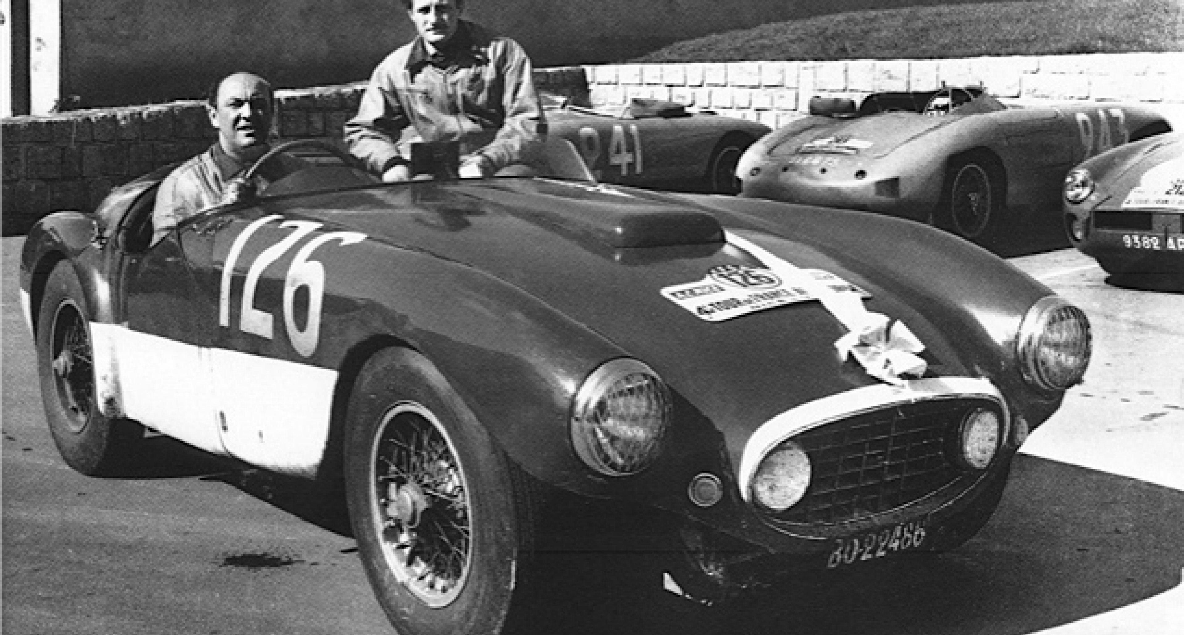 Herzet and Bianchi on the Tour de France 3 September 1954