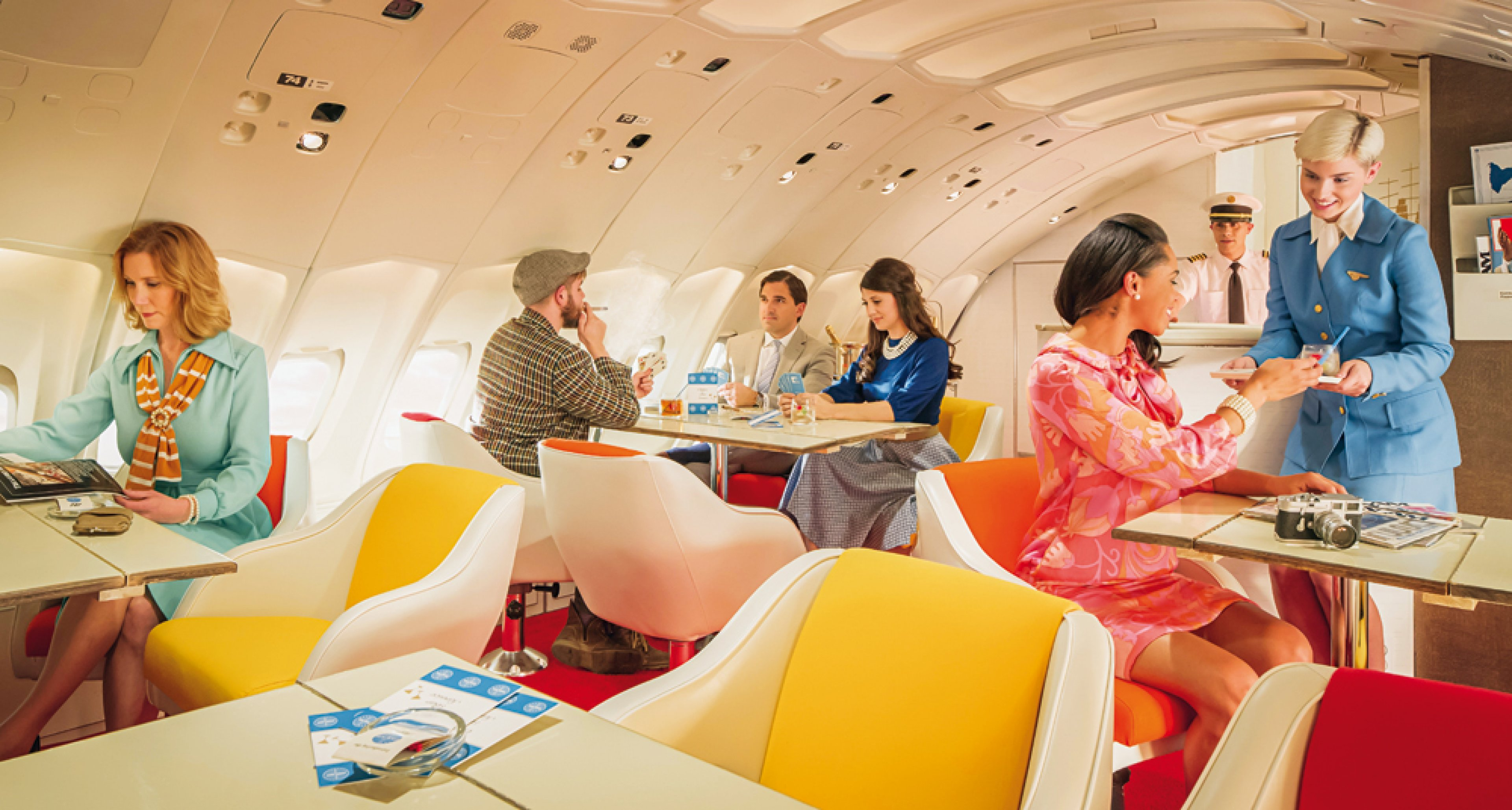 In additional to fast, capable, comfortable planes and top-notch service, the airline industry learned that the experience of high-class travel must be exactly that — an experience. © Mike Kelley