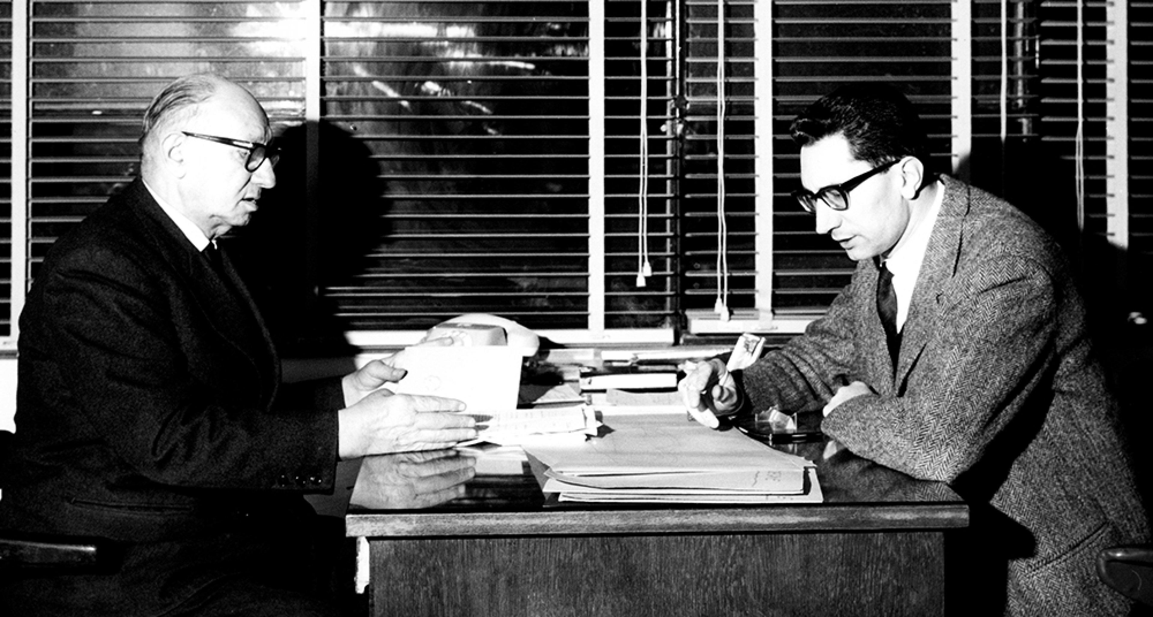 Ugo Zagato and son Elio Zagato in Italy, 1963. © TCI/EyeOn/UIG via Getty Images