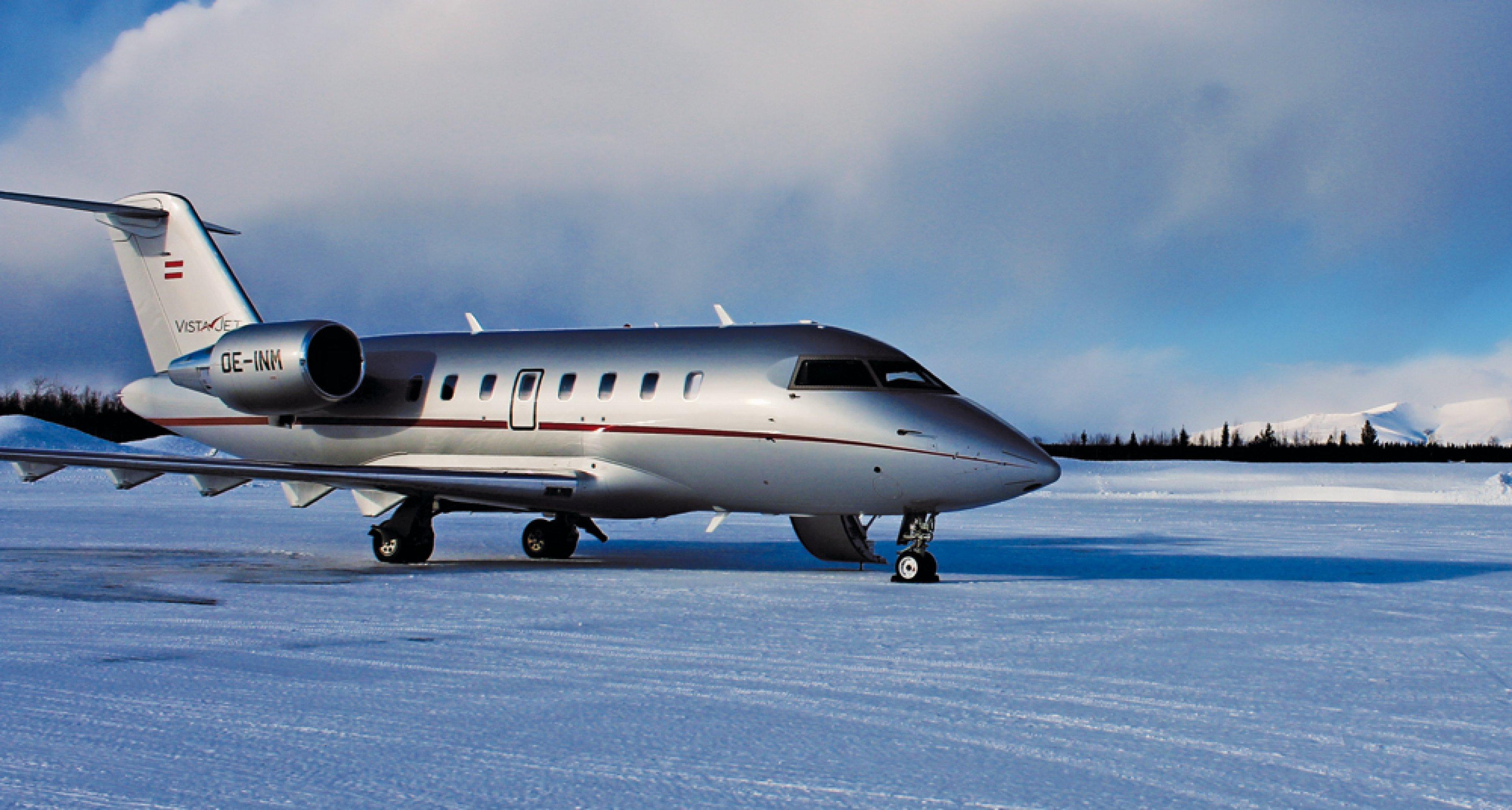 A VistaJet Bombardier Challenger 605 lands in the Russian Arctic, Kyle Brown © VistaJet