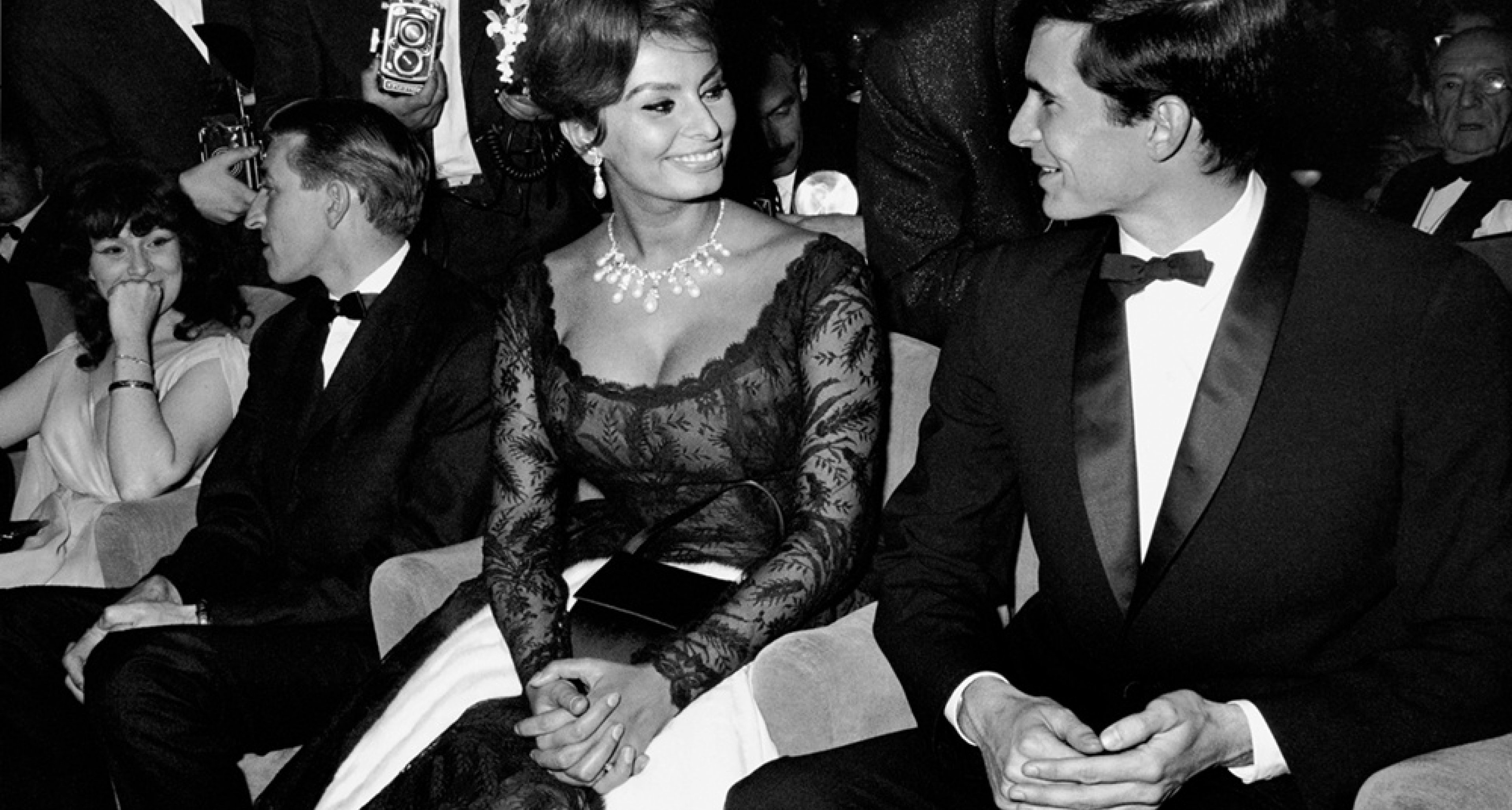 Sophia Loren and Anthony Perkins at a Gala Evening, Cannes Film Festival l96l Photo © edwardquinn.com