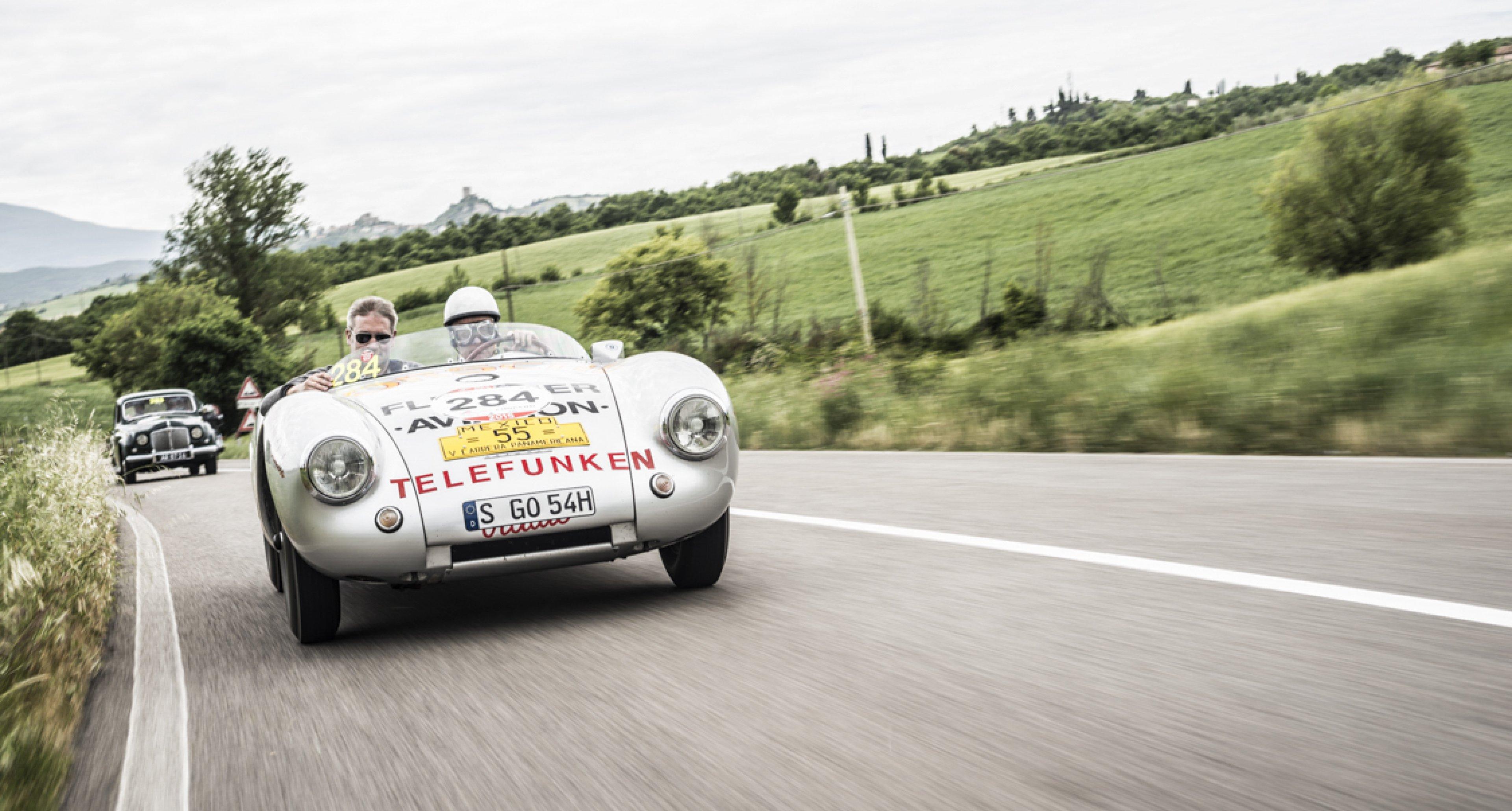 Porsche Speedster on the Mille Miglia 2015