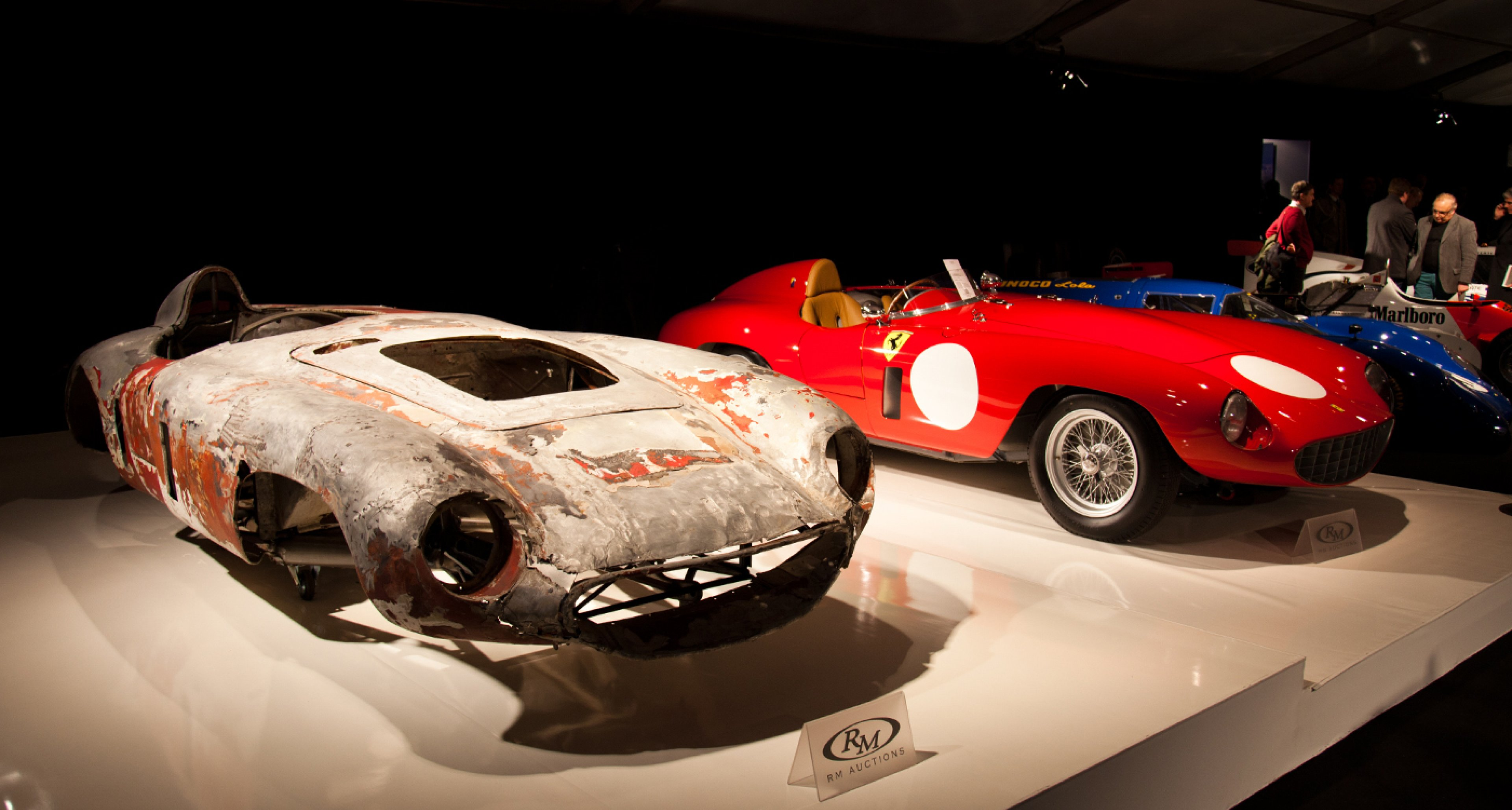 Before and after: A 1955 Ferrari 750 Monza Spider (sold for €1,960,000)