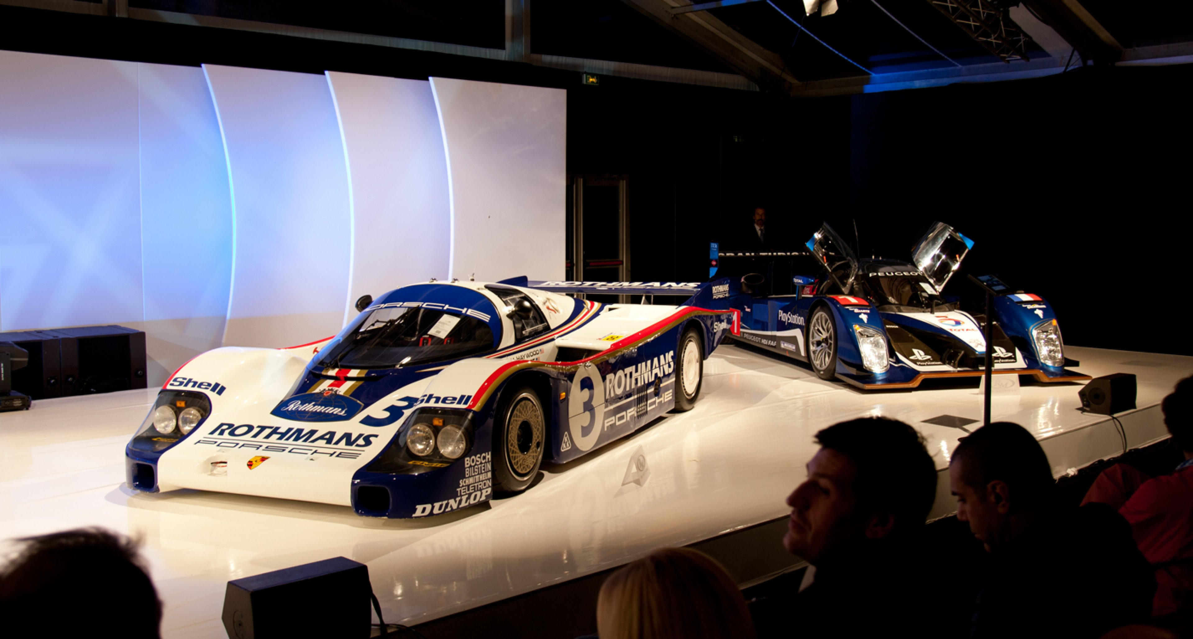 1982 Porsche 956 Group C and 2008 Peugeot 908 HDI Le Mans Prototype