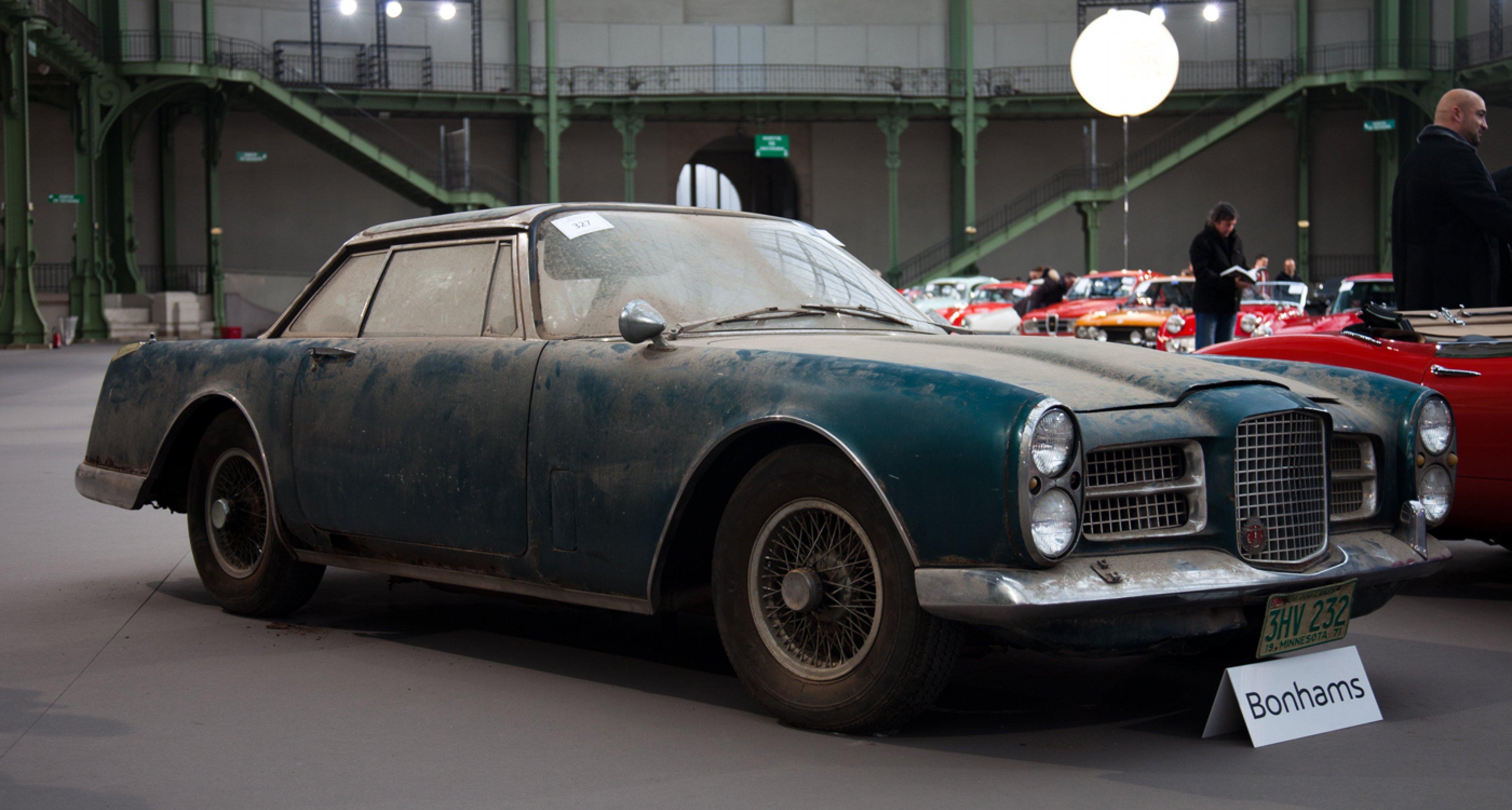 In need of TLC: 1962 Facel Vega Facel II Coupe (sold for €155,250) at Bonhams.