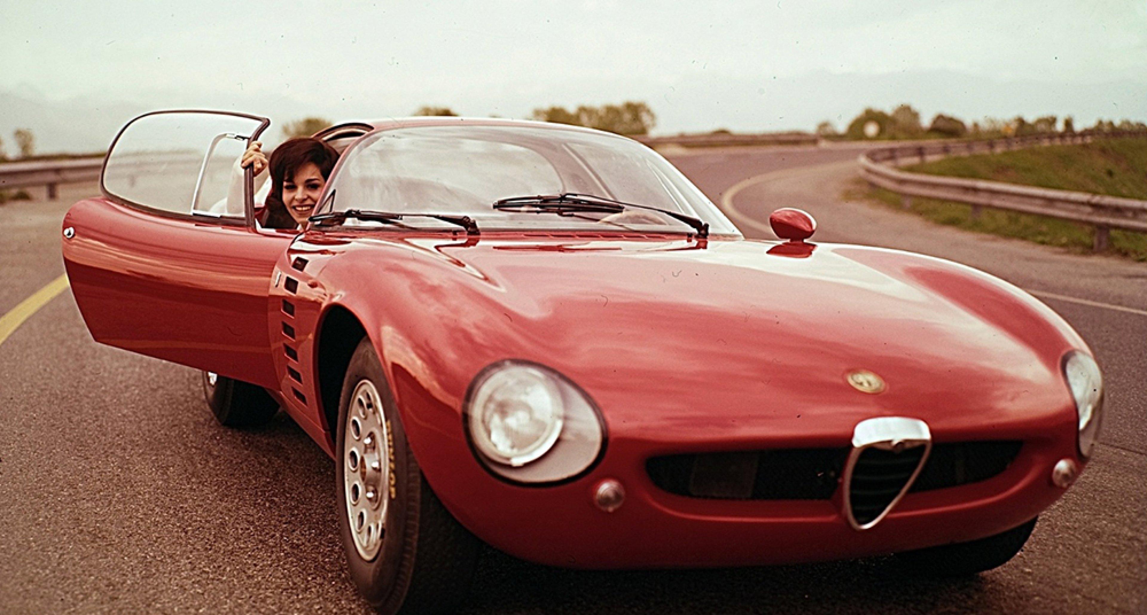 The Alfa Romeo Canguro concept unveiled at the 1964 Turin Motor Show.