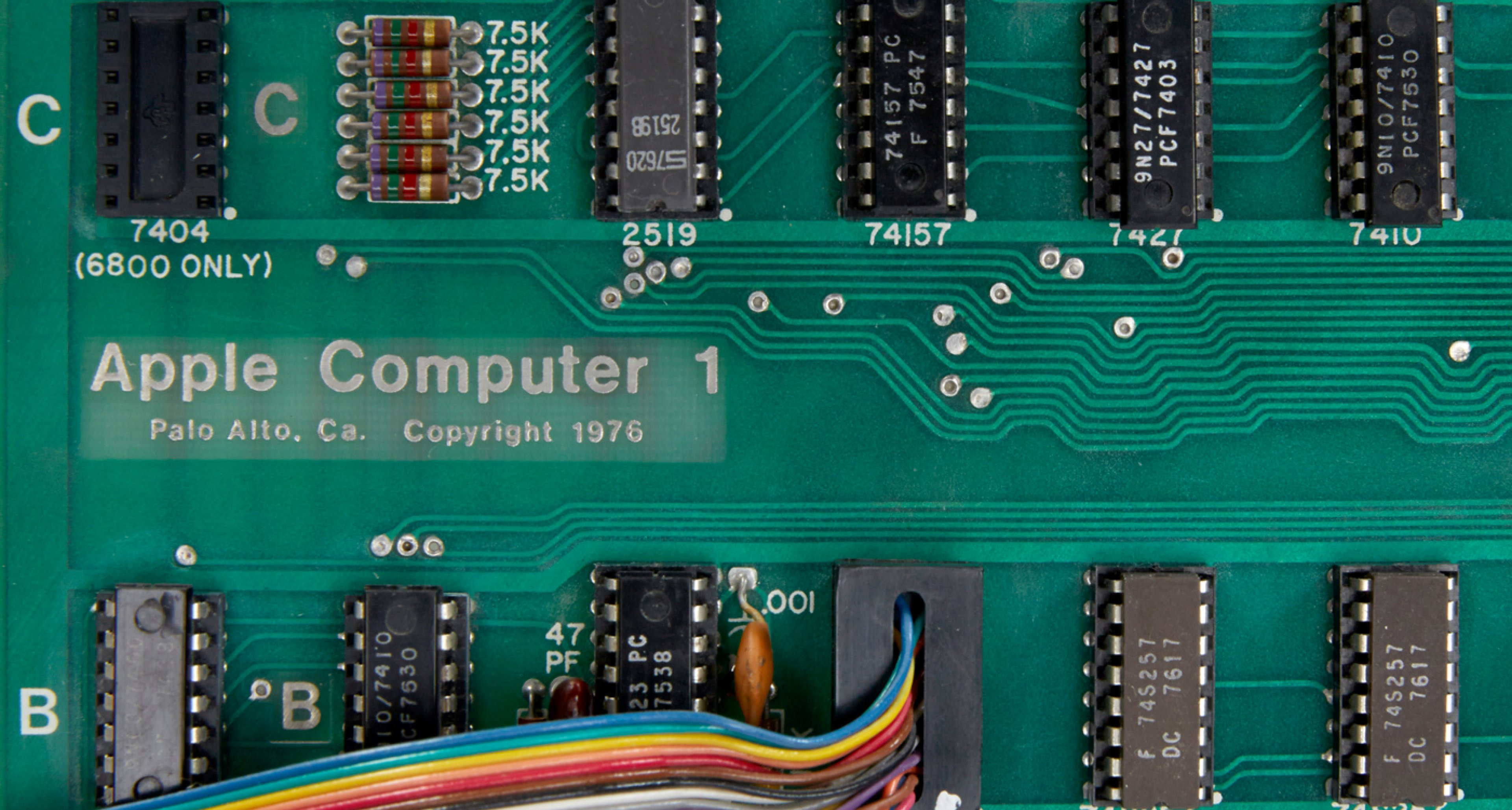 Apple 1 Computer, Apple 1 Motherboard
