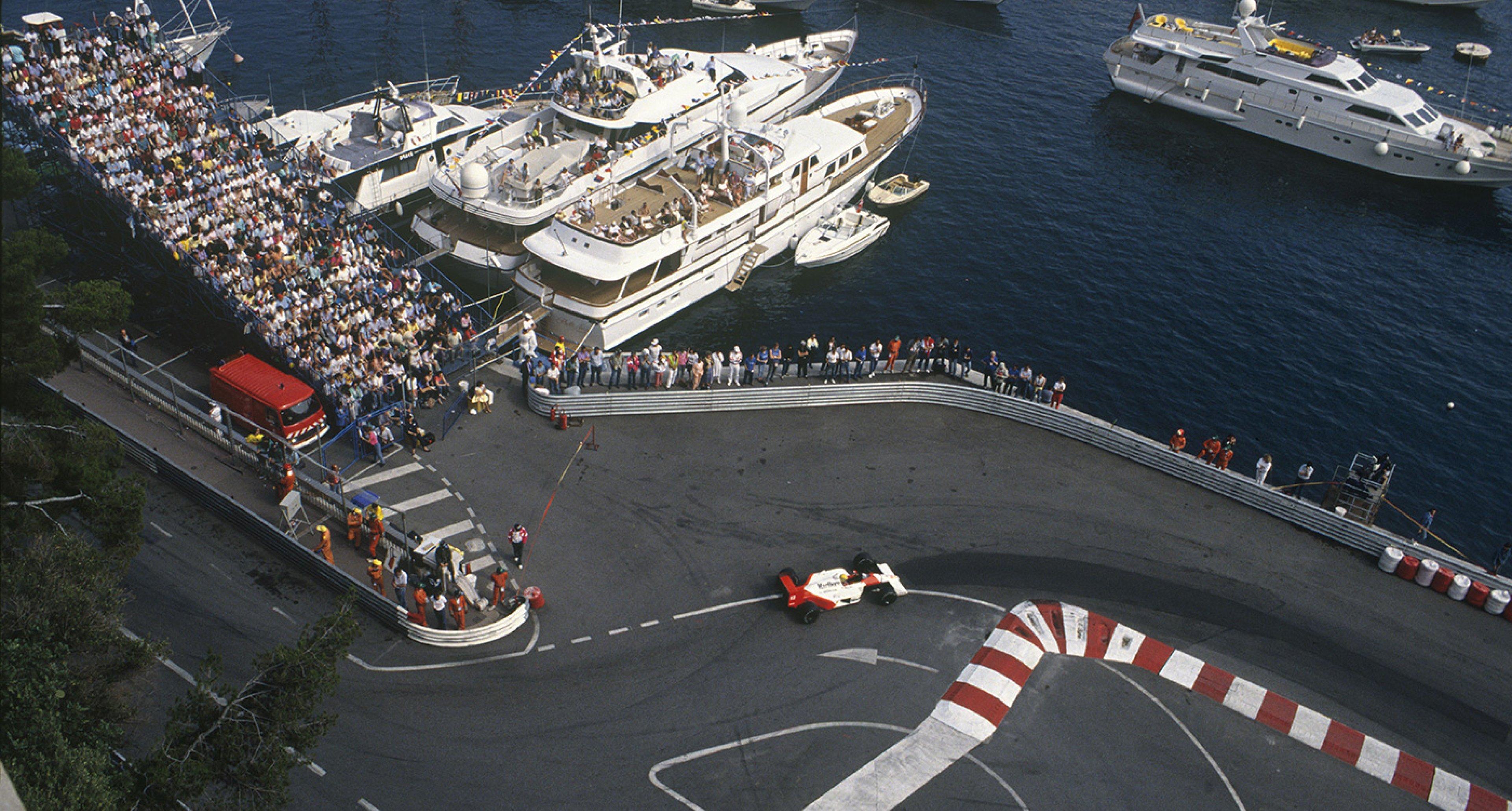 Ayrton Senna sets a legendary qualifying lap at the 1988 Monaco GP