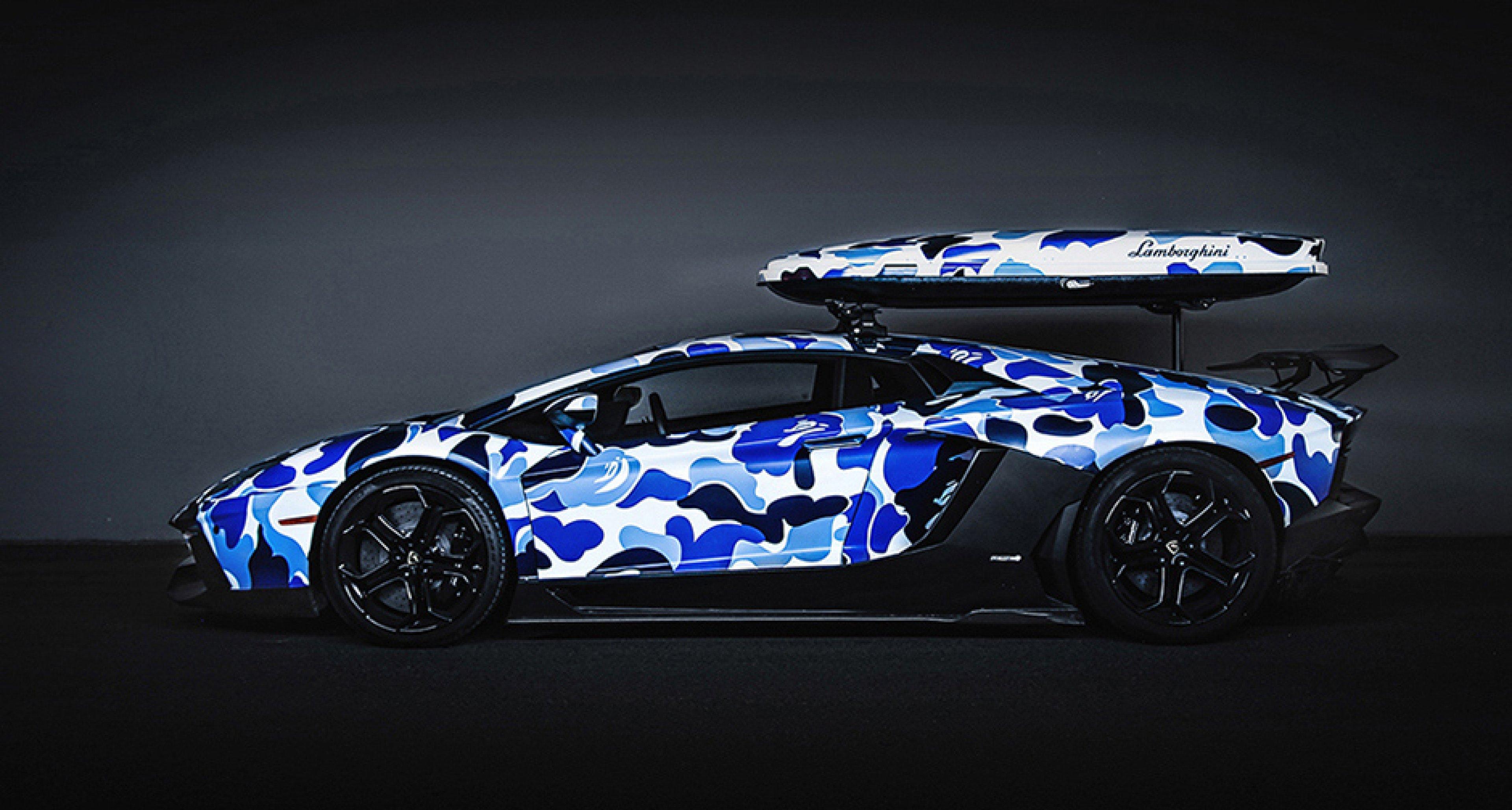 Arktischer Sturm Bape Lamborghini Aventador Arctic Camo