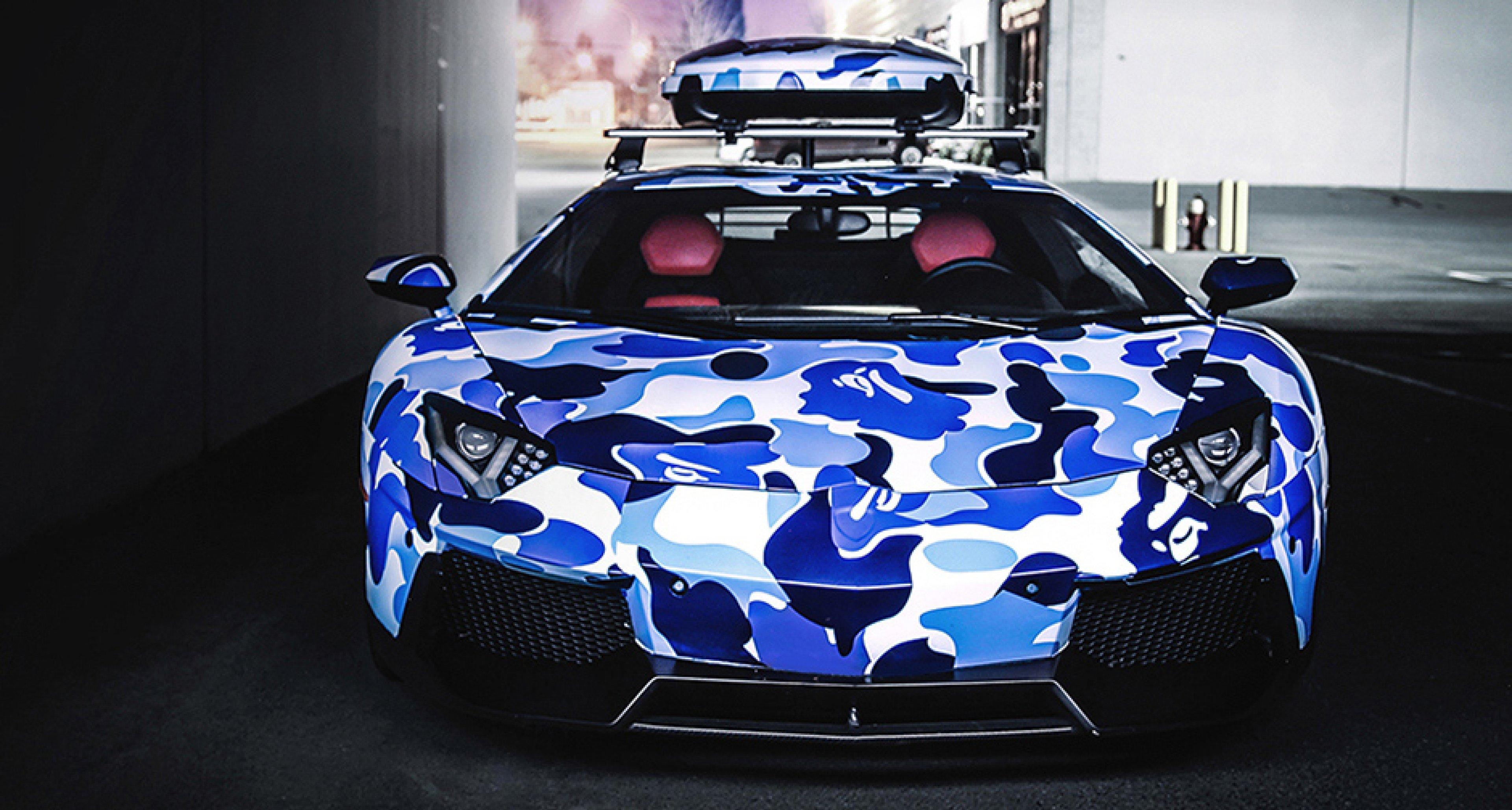 BAPE Lamborghini Aventador Arctic Camo