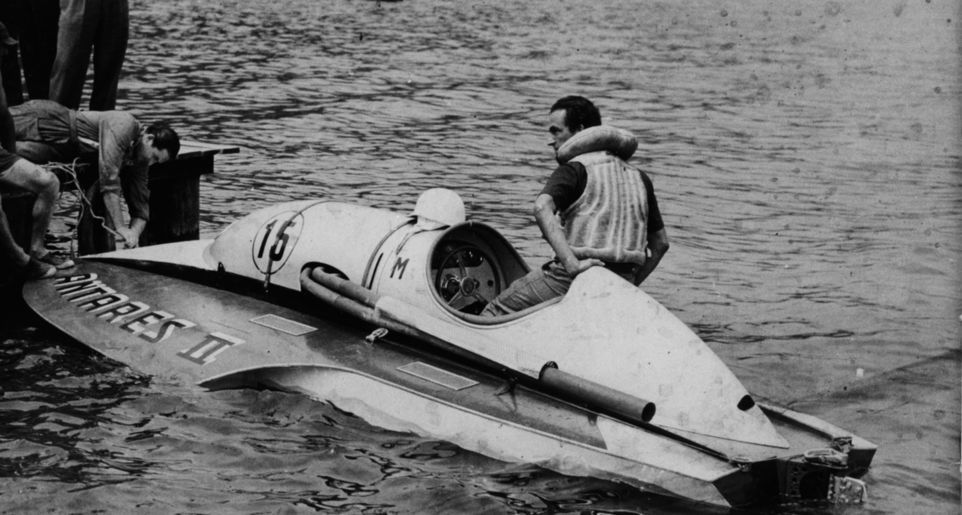 Ready  for take off in the Ferrari powered Hydroplane