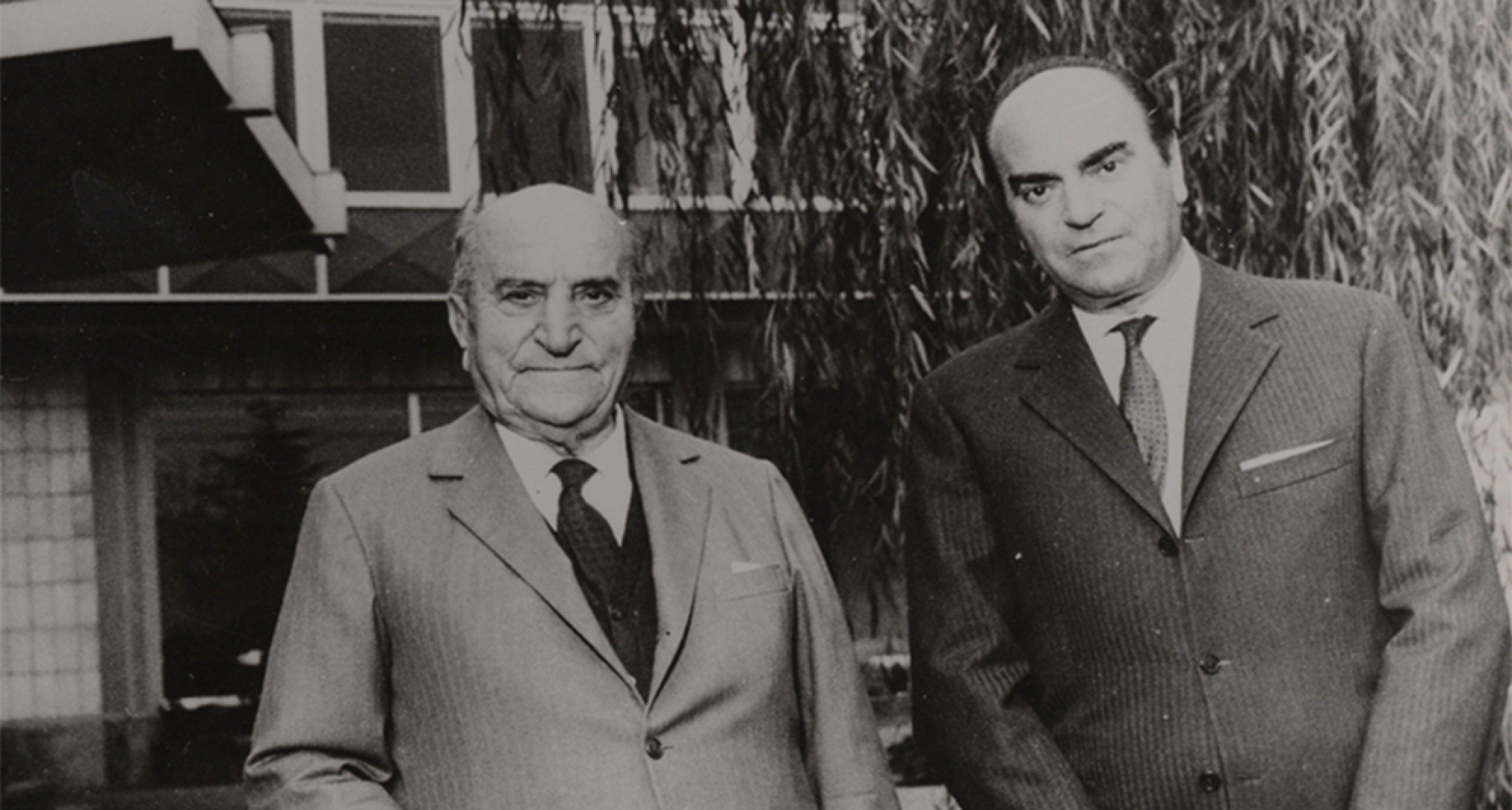 Giovanni and his son Giuseppe 'Nuccio' Bertone. @ Bertone archives.,