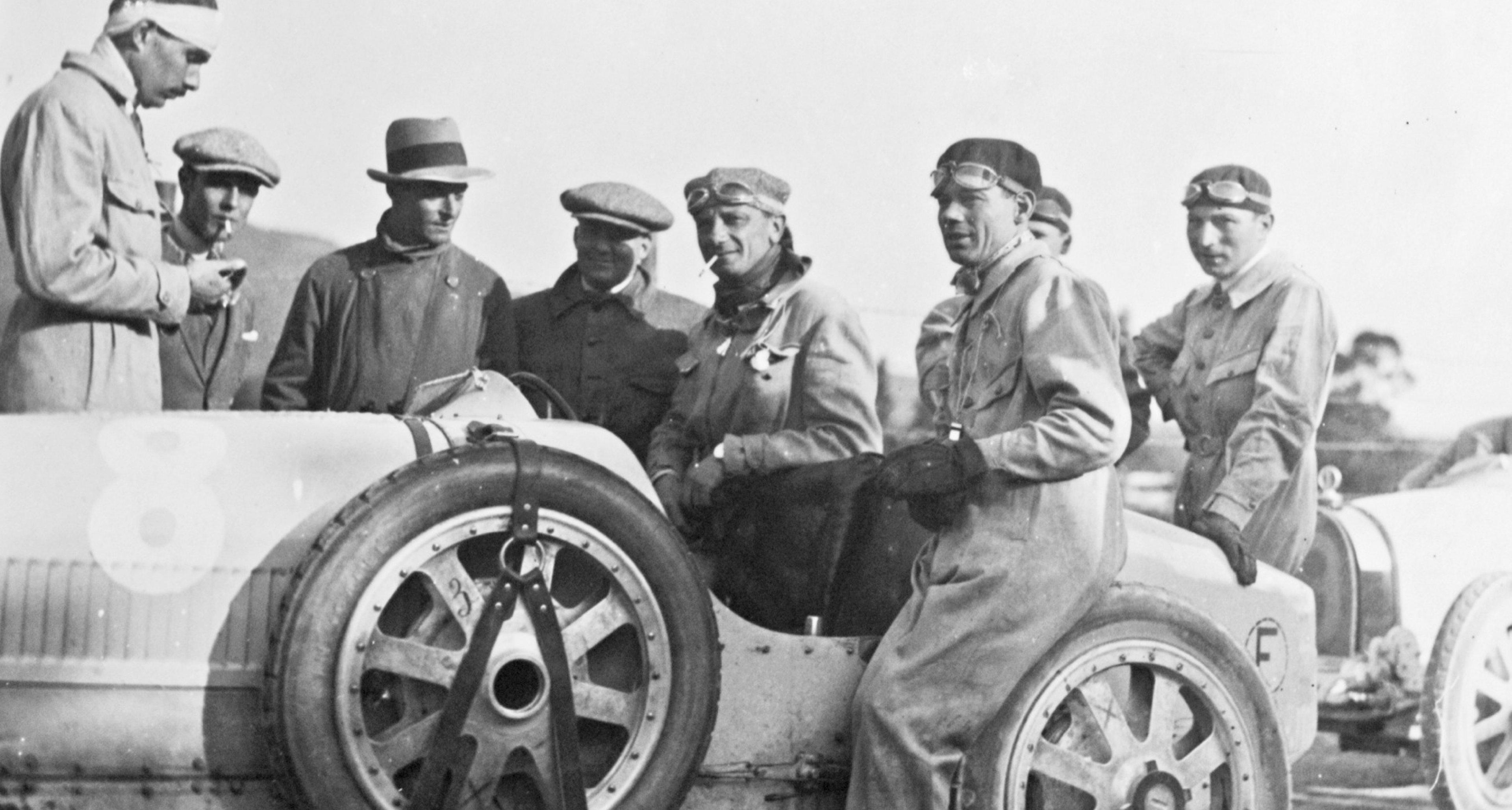 Meo Constantini in a Bugatti Type 35 at the 1925 Targa Florio
