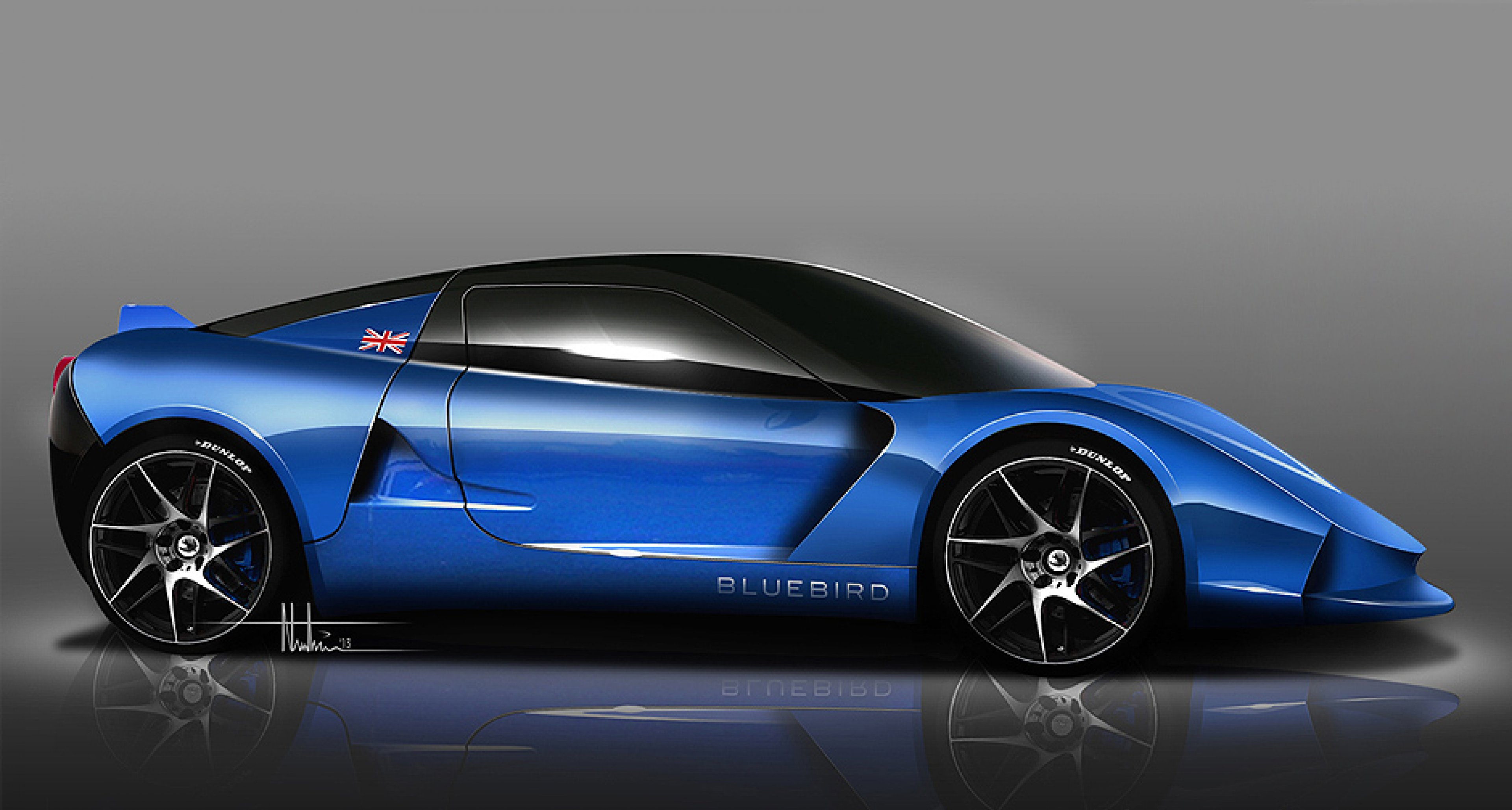 Electric Blue 50 Bluebird Sports Cars To Go On