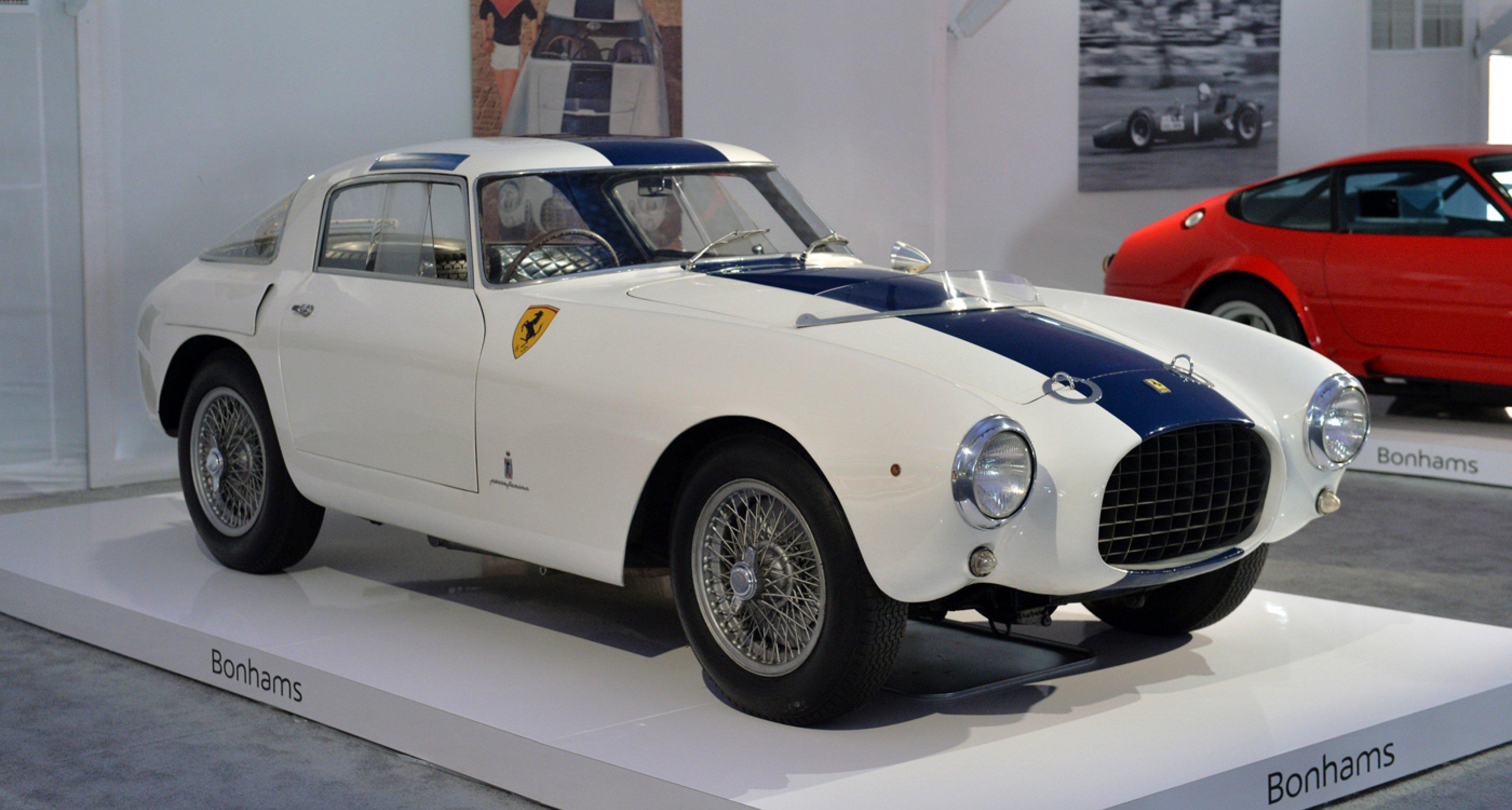 1953 Ferrari 250 Mille Miglia Berlinetta sold for USD 38,115,000 at Bonhams Quail Lodge sale 2014