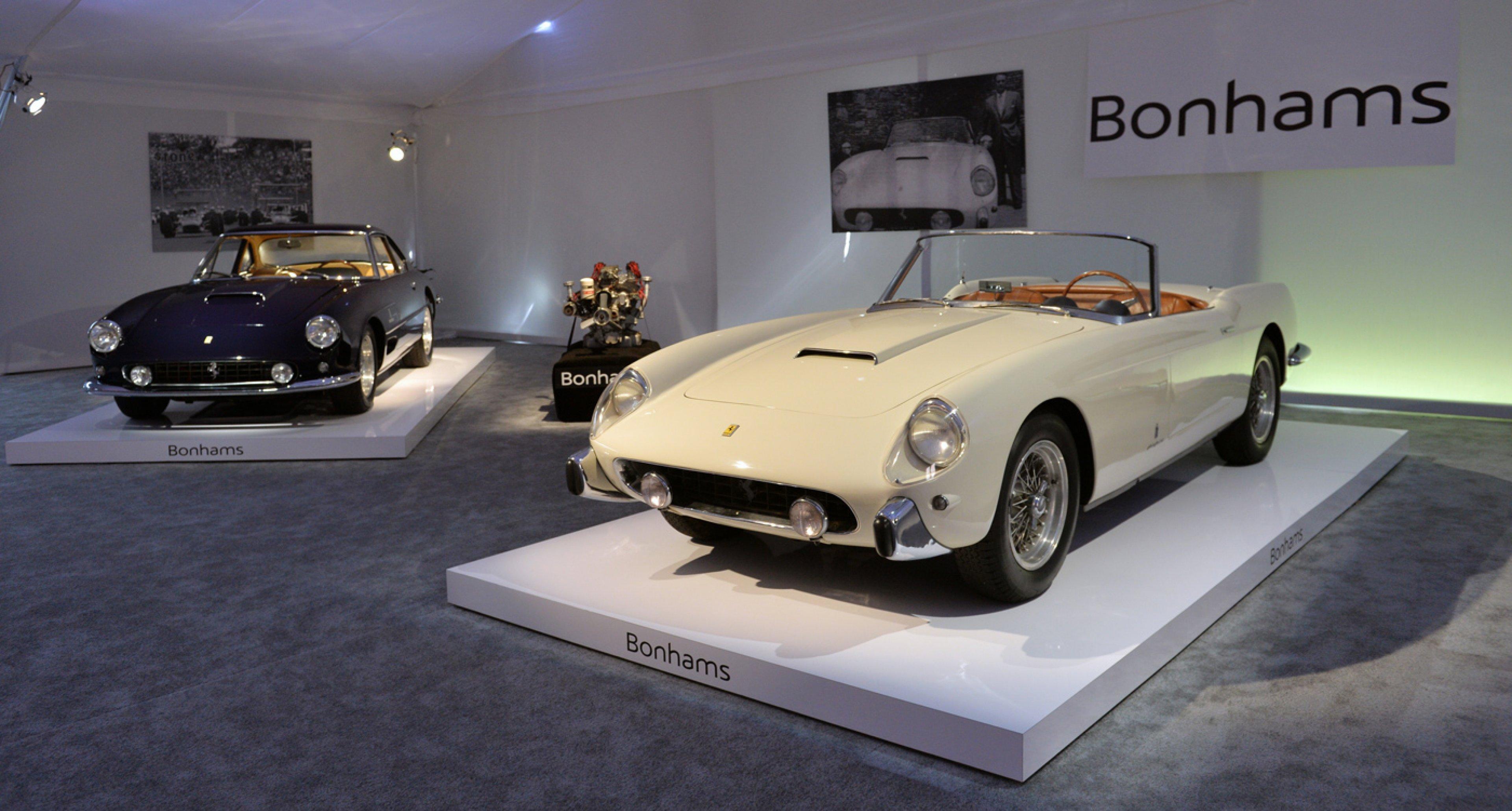 1958 Ferrari 250 GT Series 1 Cabriolet sold for USD 6,820,000 at Bonhams Quail Lodge sale 2014