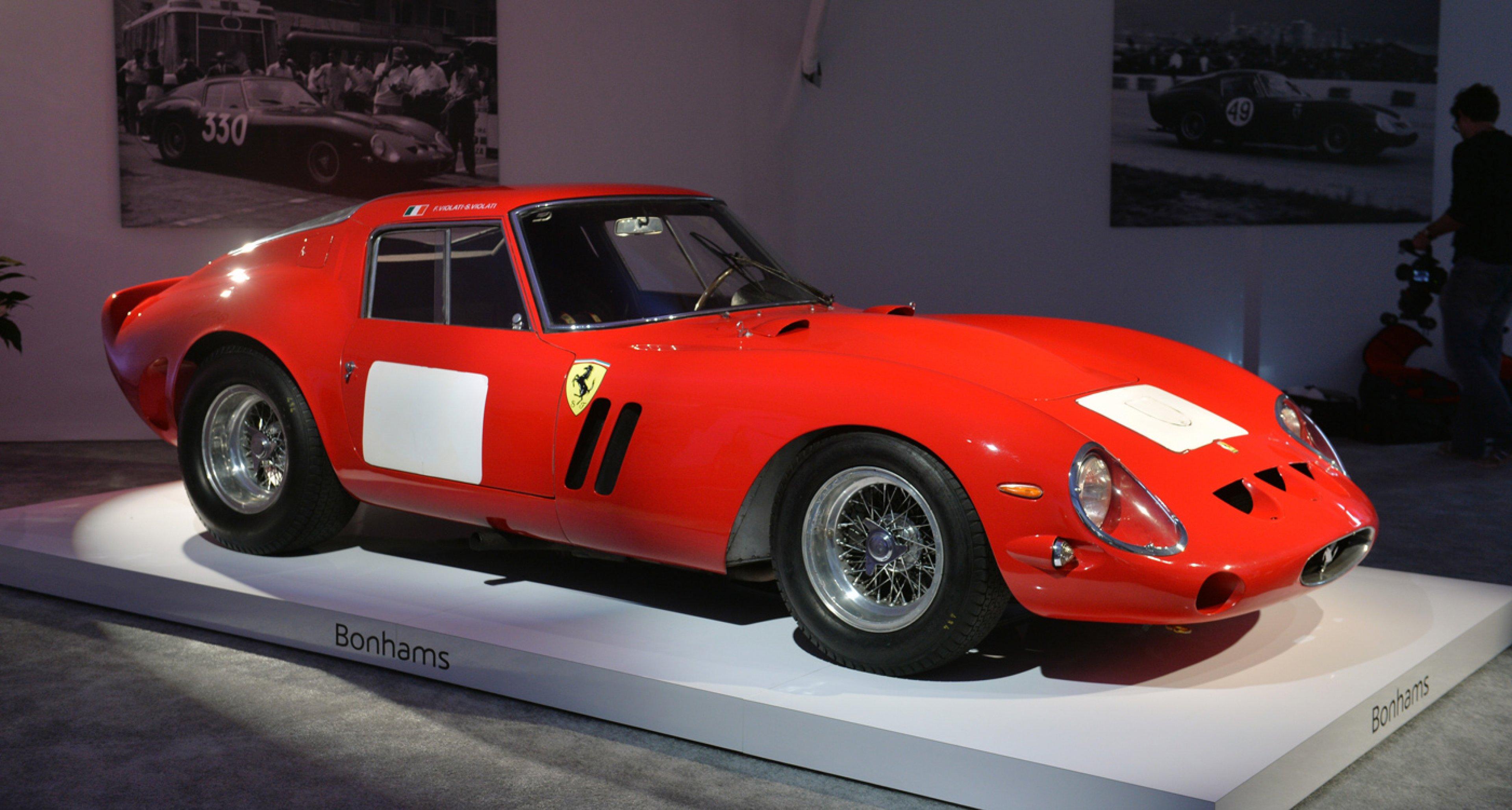 1962 Ferrari 250 GTO sold for USD 38,115,000 at Bonhams Quail Lodge sale 2014