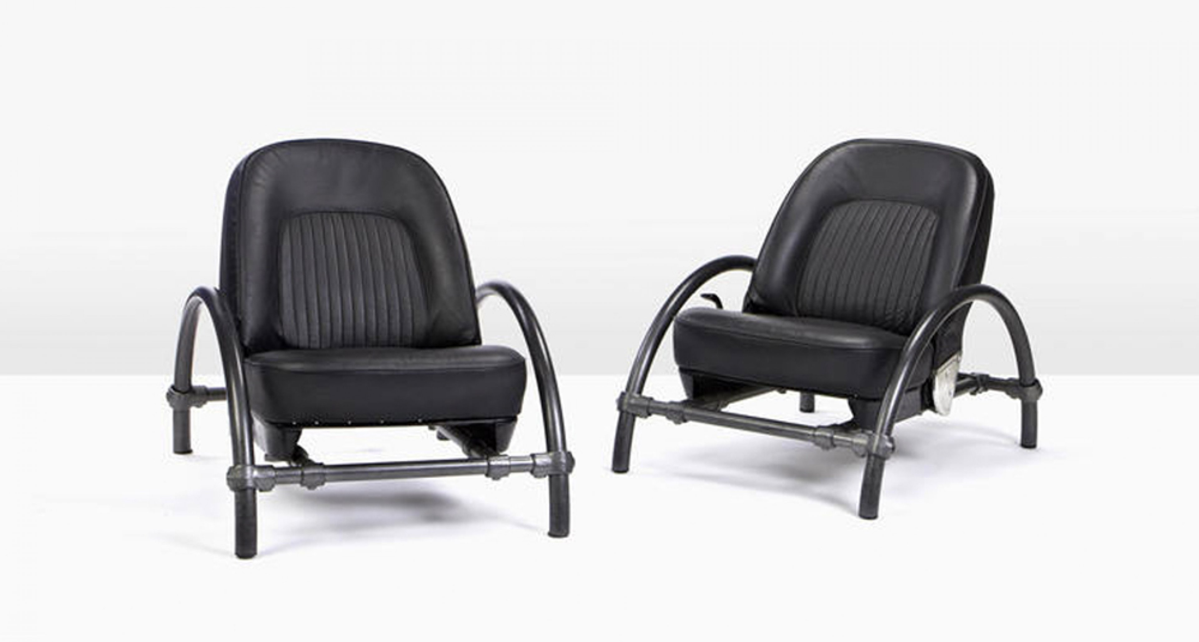Ron Arad for One Off Ltd, Pair of Rover Chairs, circa 1981, estimate £2,000 - 3,000.