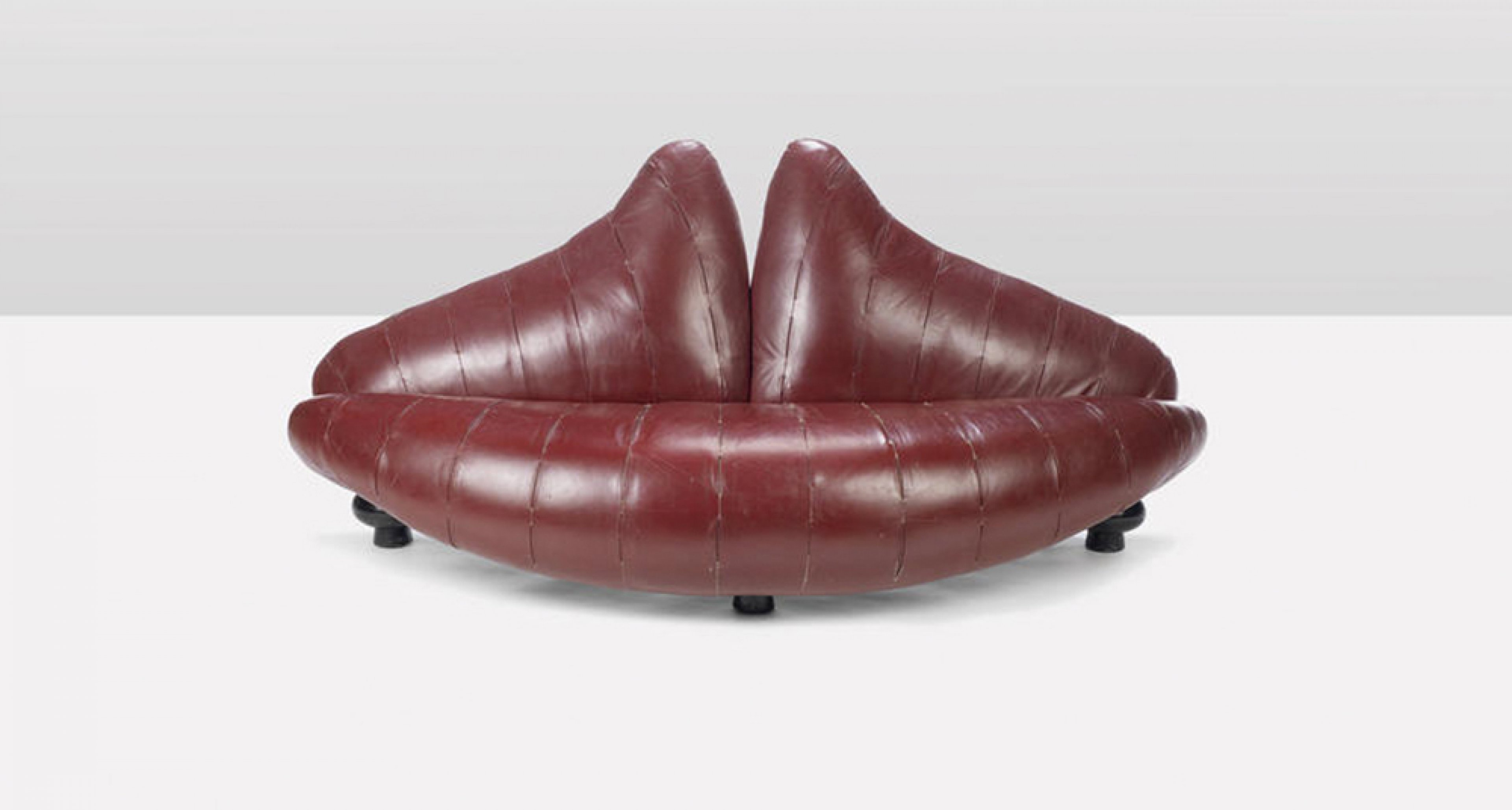 Nigel Coates, Lips Sofa designed and executed in 1988 for the interior of Katherine Hamnett's Sloane Street Store, estimate £1,500 - 2,000.