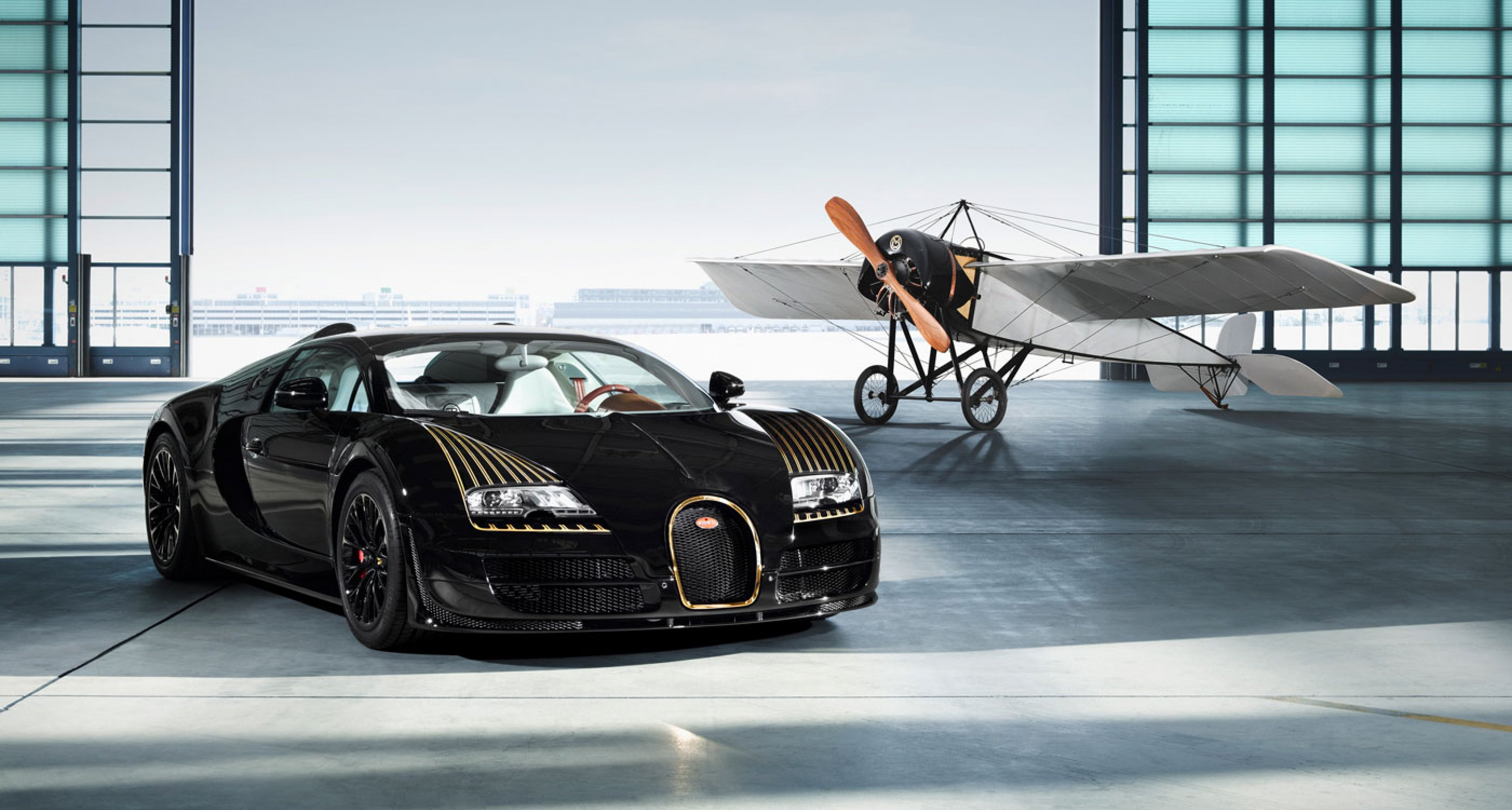 "Bugatti Vitesse Legende ""Black Bess"" and Morane Saulnier Type H"