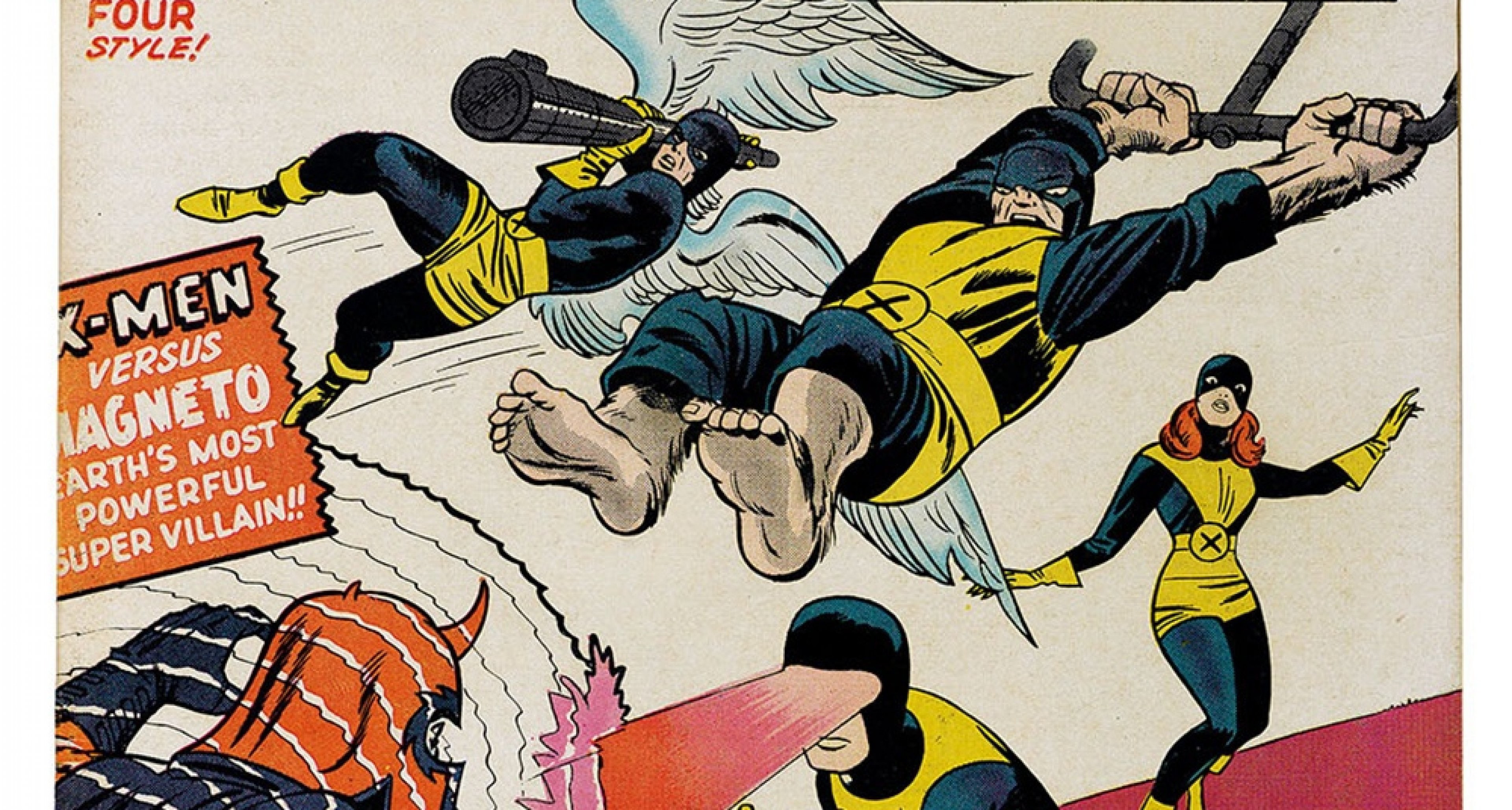 The first issue of The X-Men (September 1963), with a cover by Jack Kirby and Sol Brodsky. / TM & © 2018 Marvel Entertainment, LLC