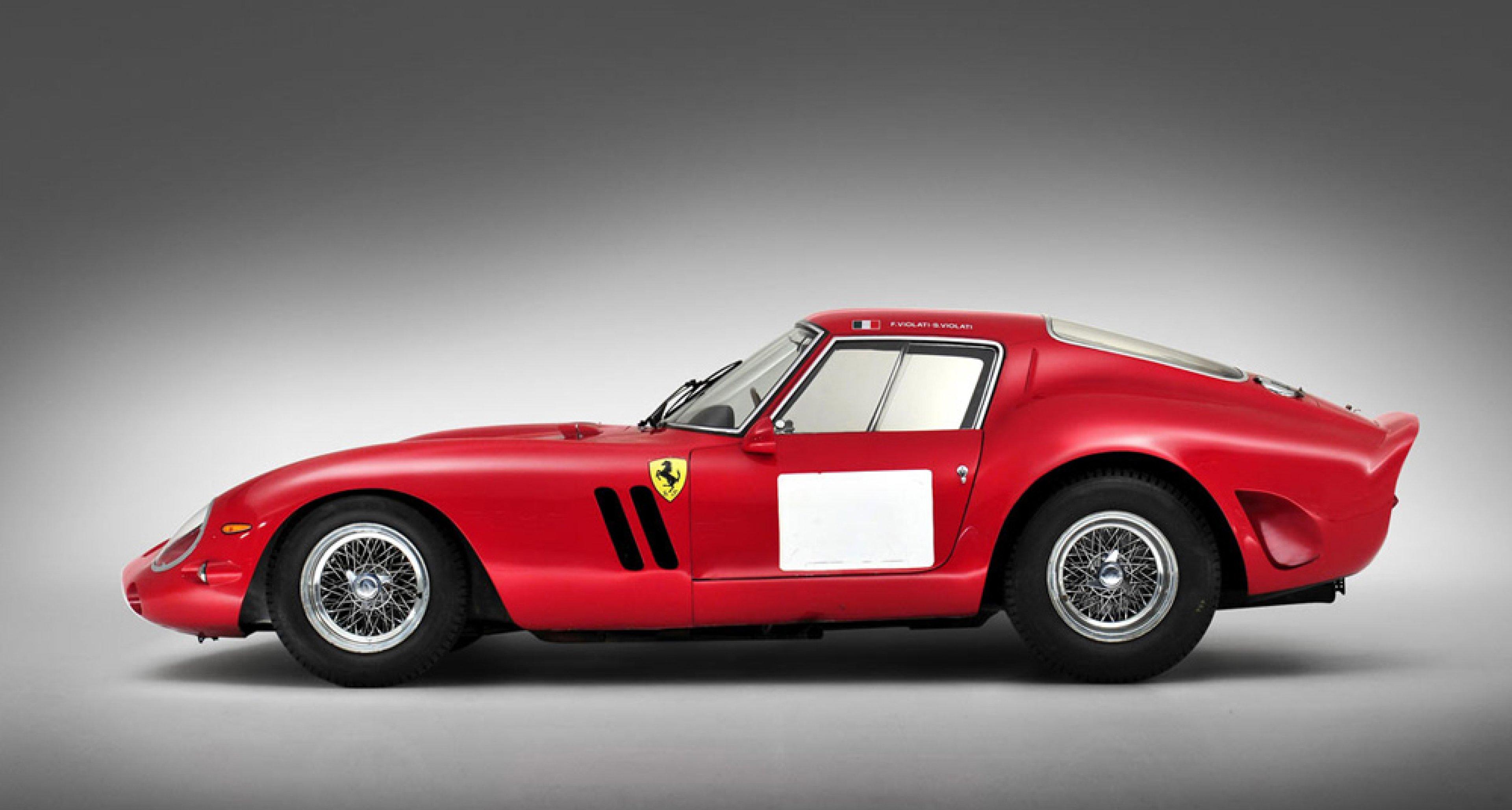 1962 Ferrari 250 GTO, sold by Bonhams in August 2014 for $ 38,115,000.