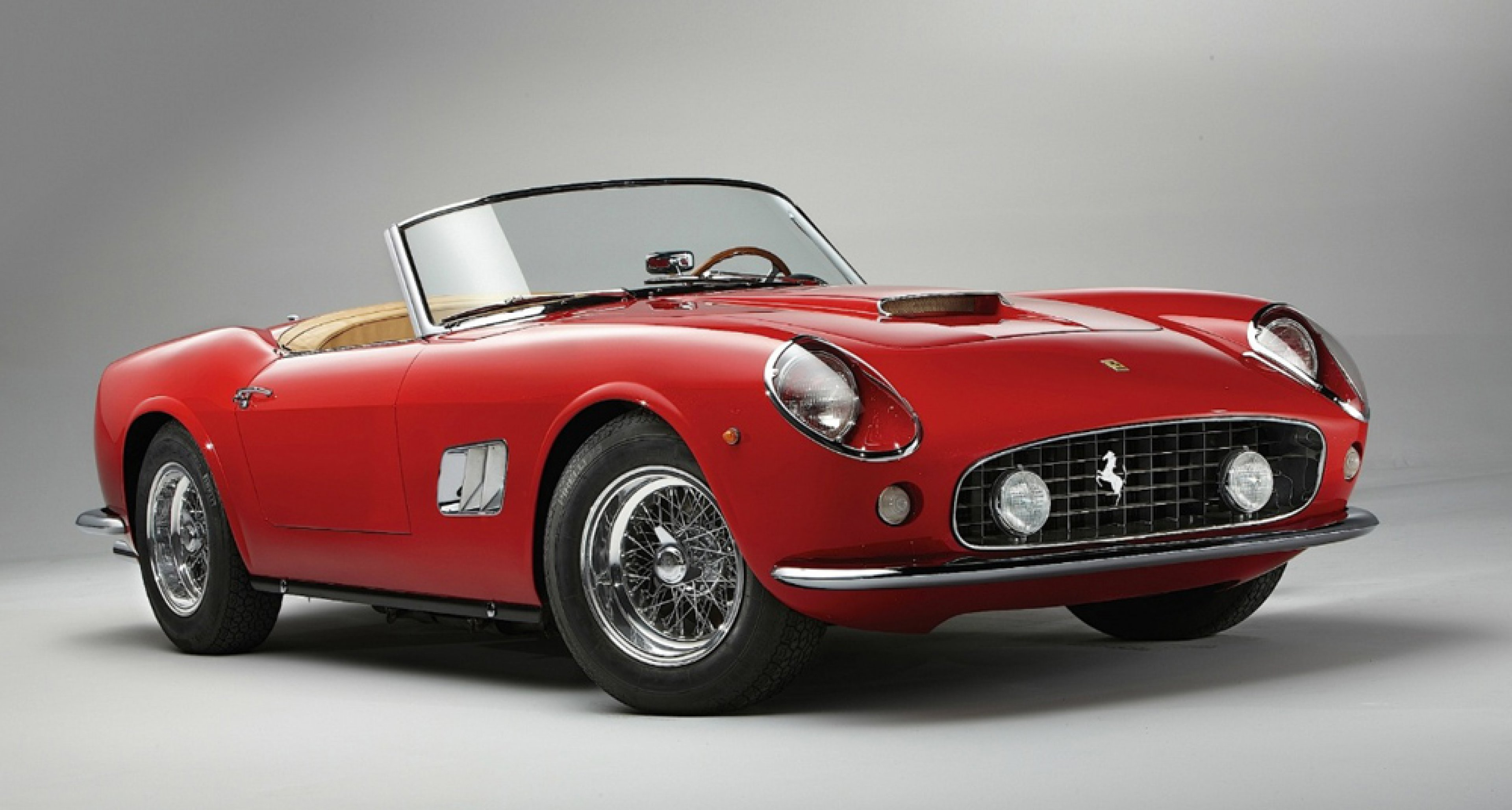 1961 Ferrari 250 GT SWB California Spider, sold by Gooding & Company in August 2014 for $ 15,180,000.