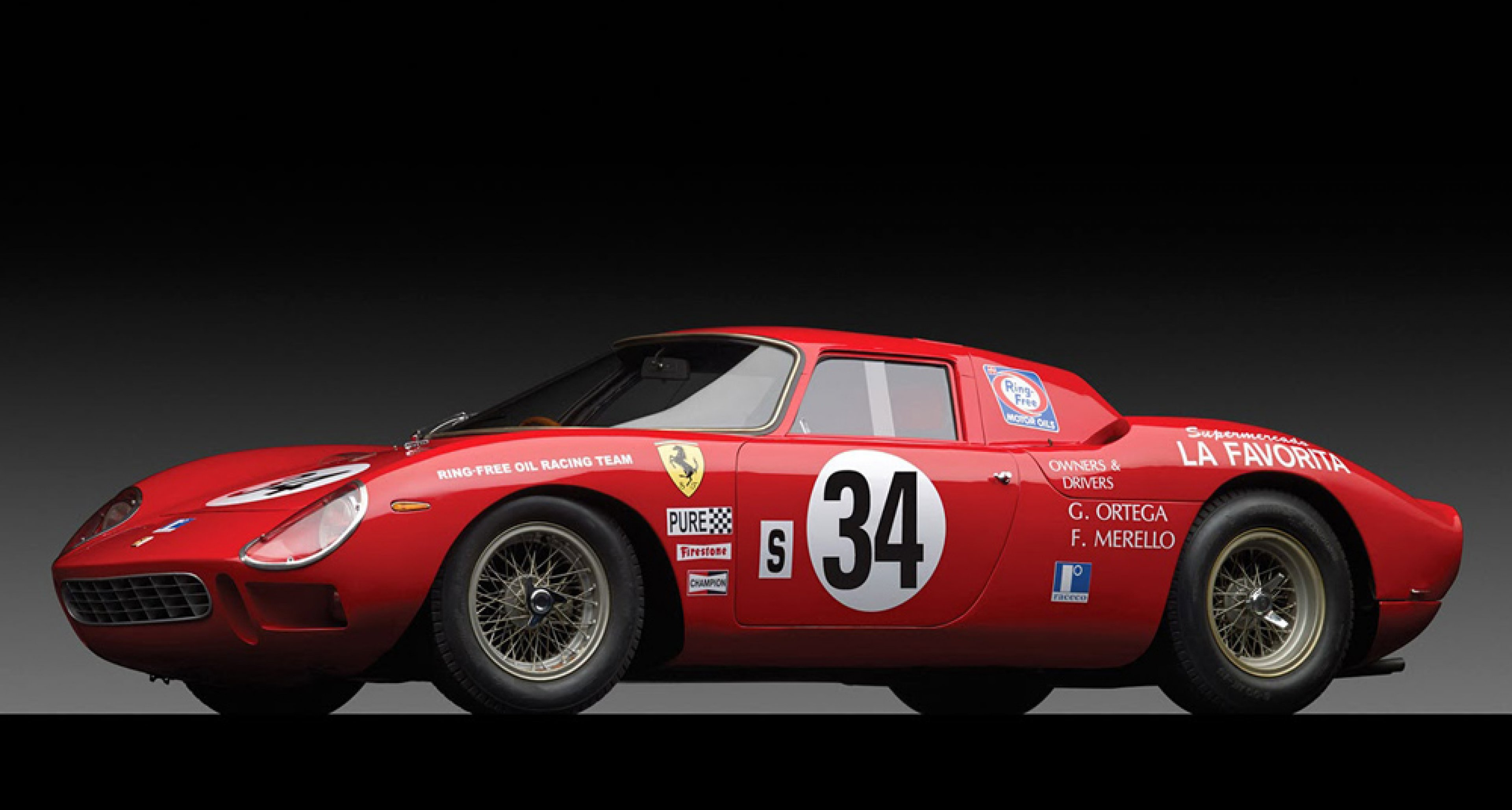 1964 Ferrari 250 LM, sold by RM Auctions in November 2013 for $ 14,477,729.