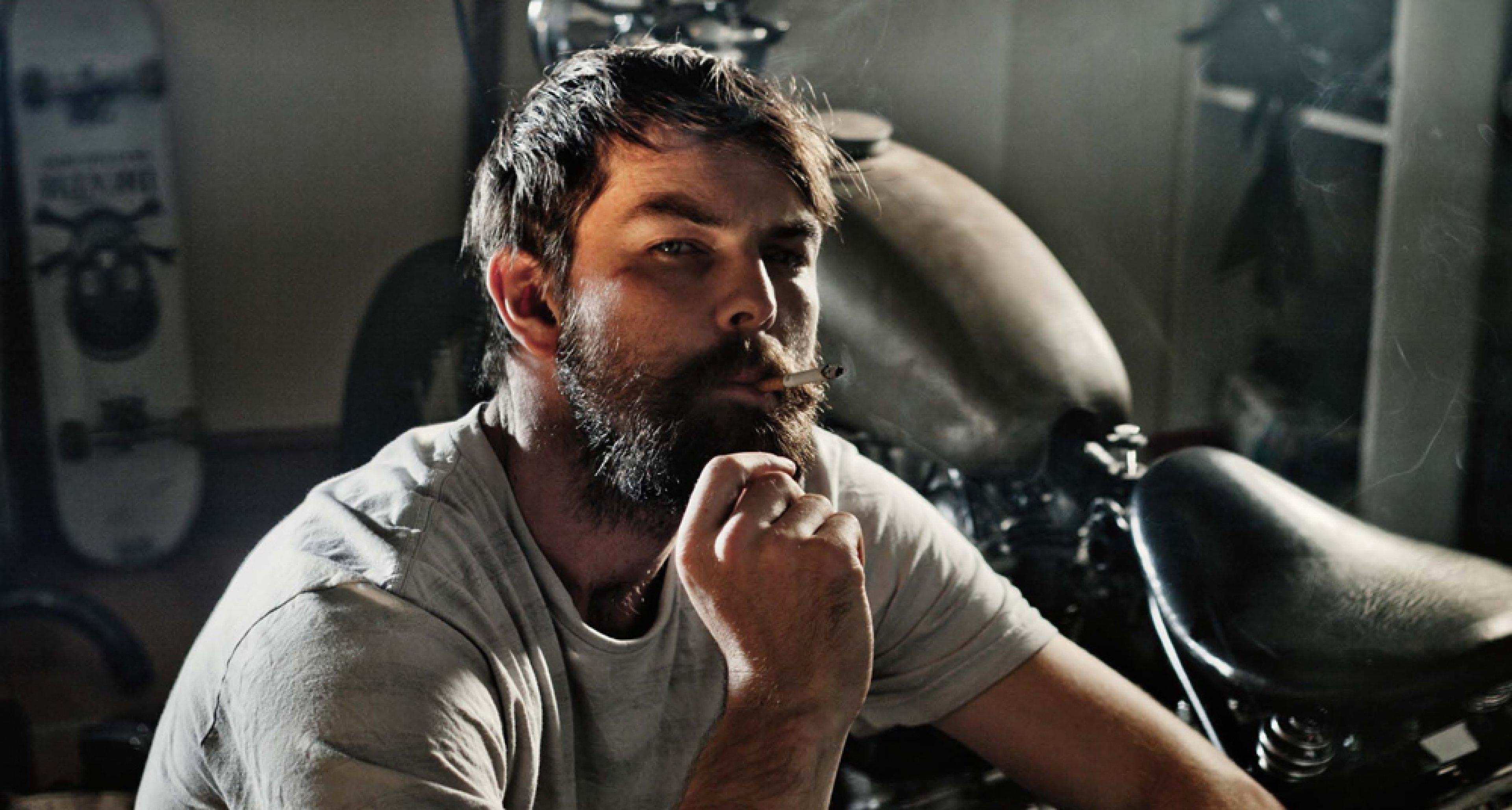 Motorcycle enthusiast James Jordan. Photo by Sam Christmas.