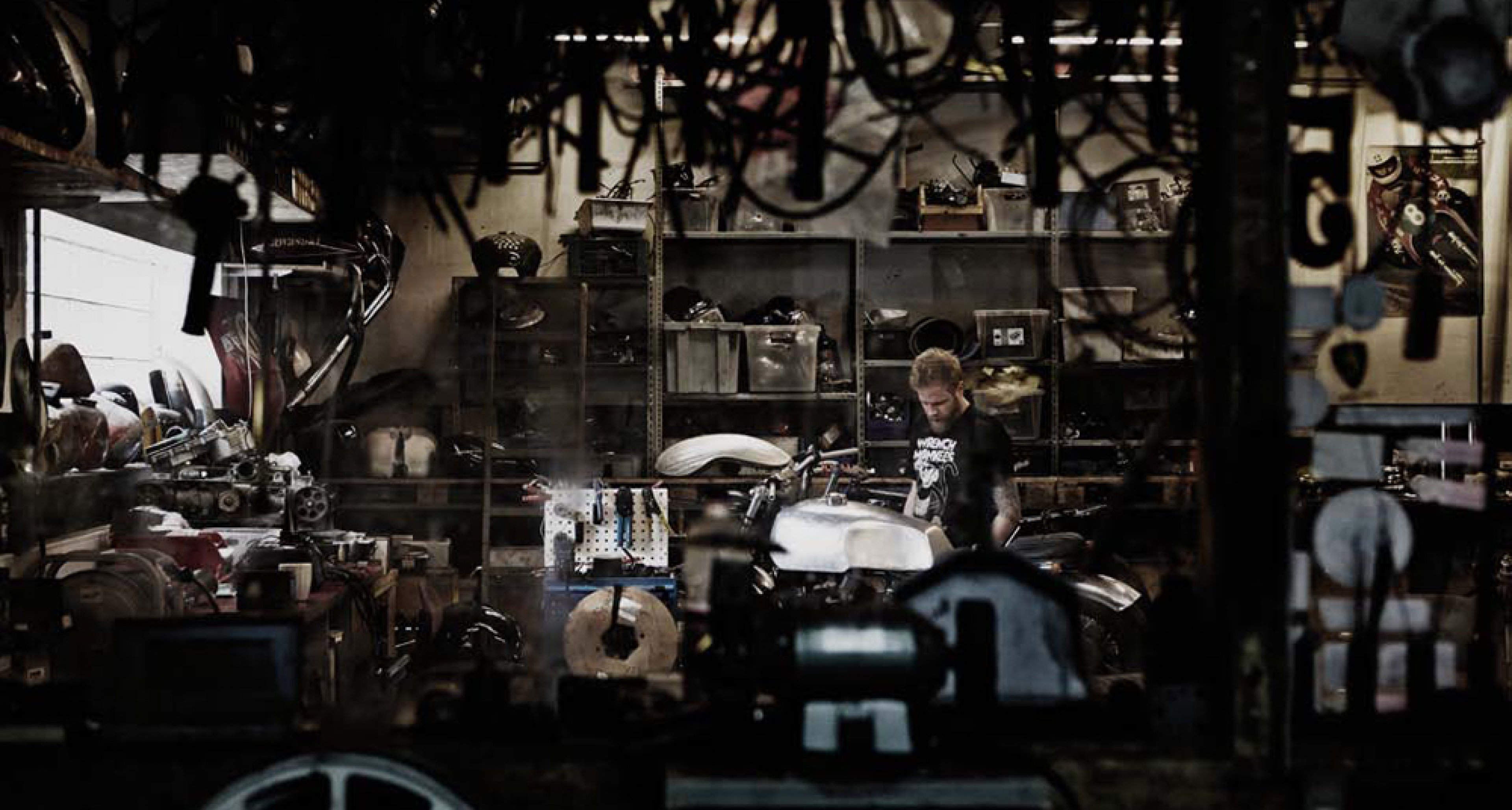 Inside the Wrenchmonkeesworkshop in Amager, east of Copenhagen. Photo by Tuala.