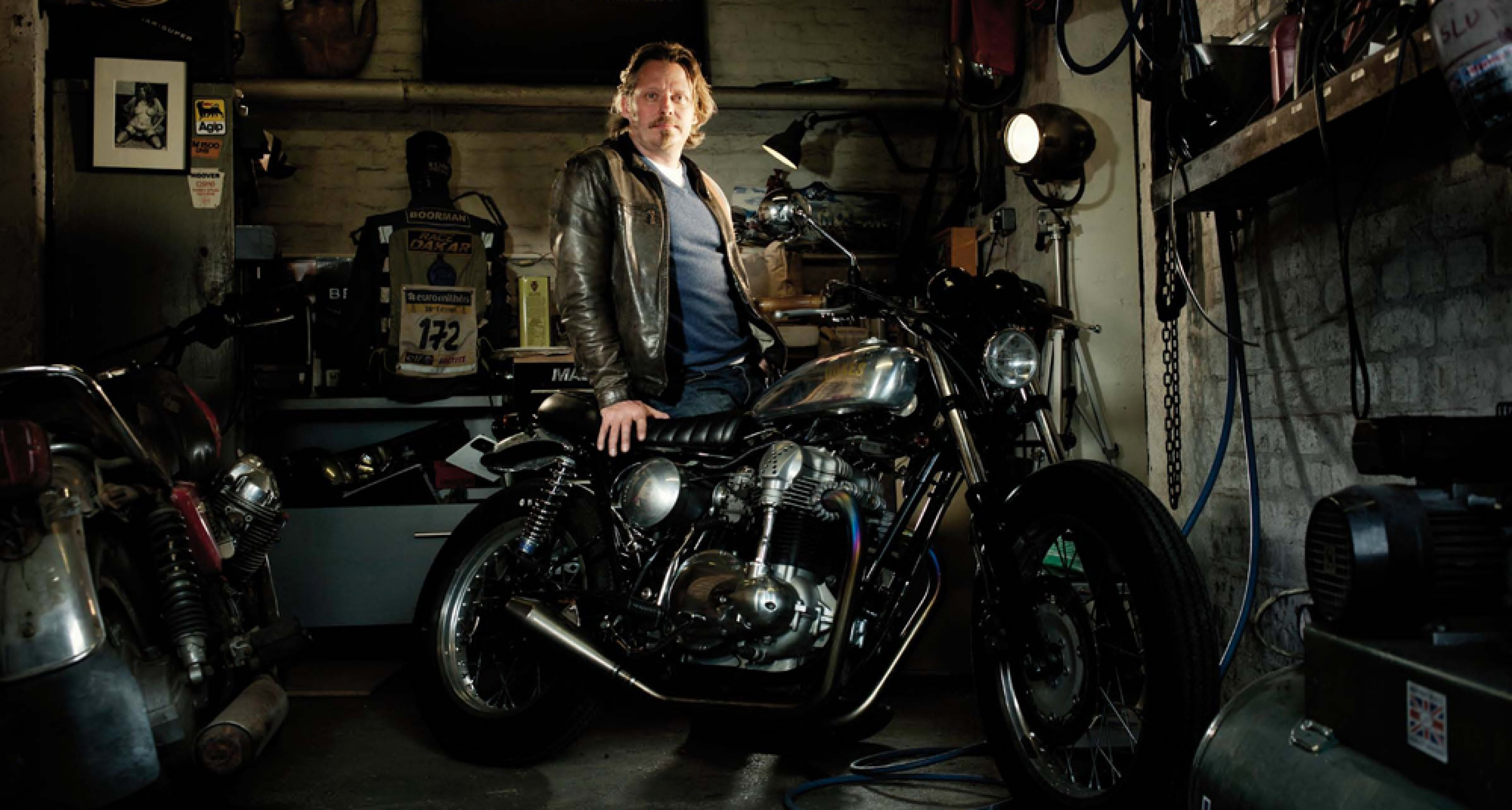 British actor and motorcycle enthusiast Charley Boorman. Photo by Sam Christmas.