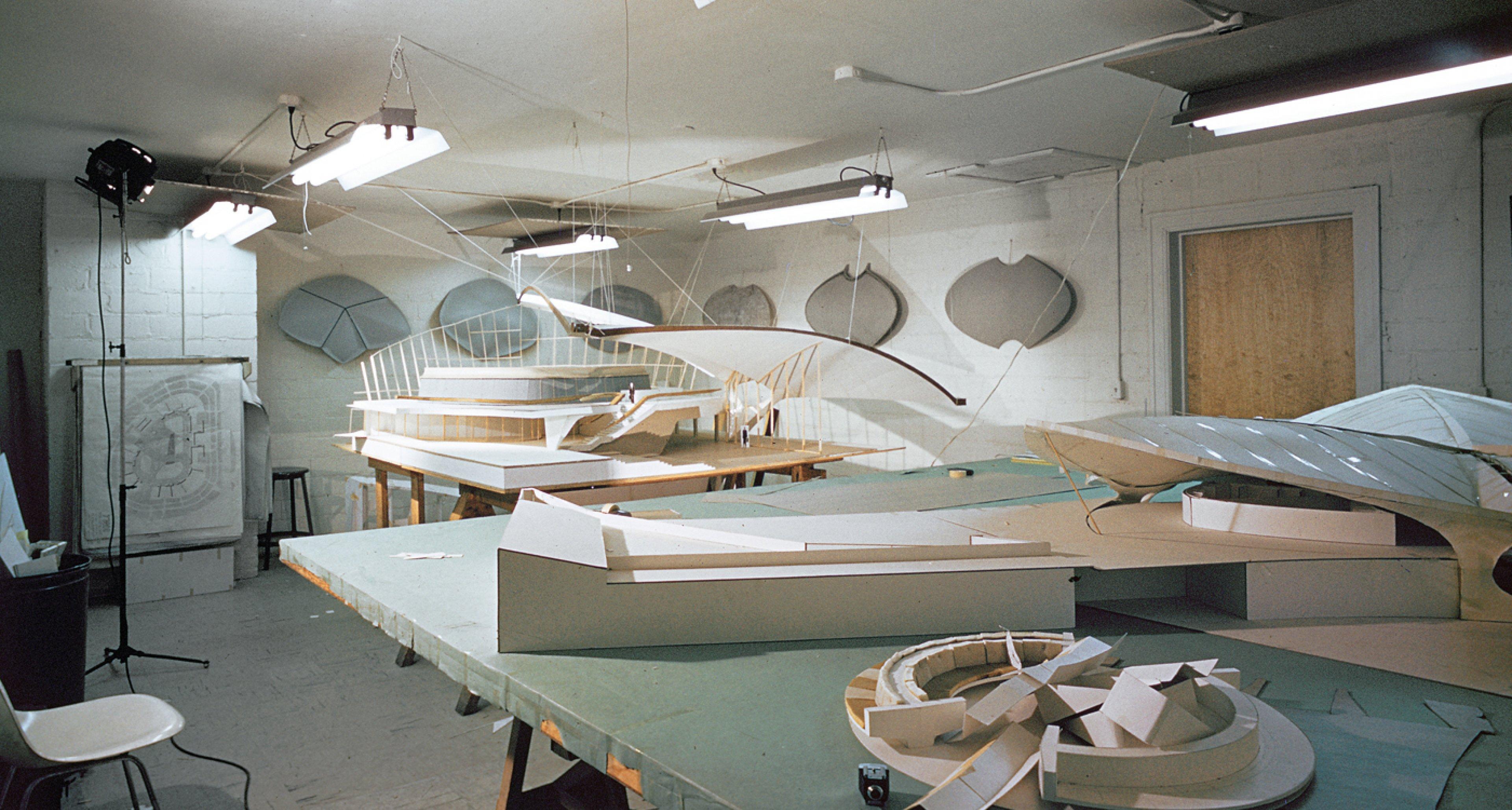 Eero Saarinen mietet für den Entwurf des Terminals eigens einen genug grossen Raum © Richard G. Knight /Richard Gamble Knight Papers (MS 1999). Manuscripts and Archives, Yale University Library