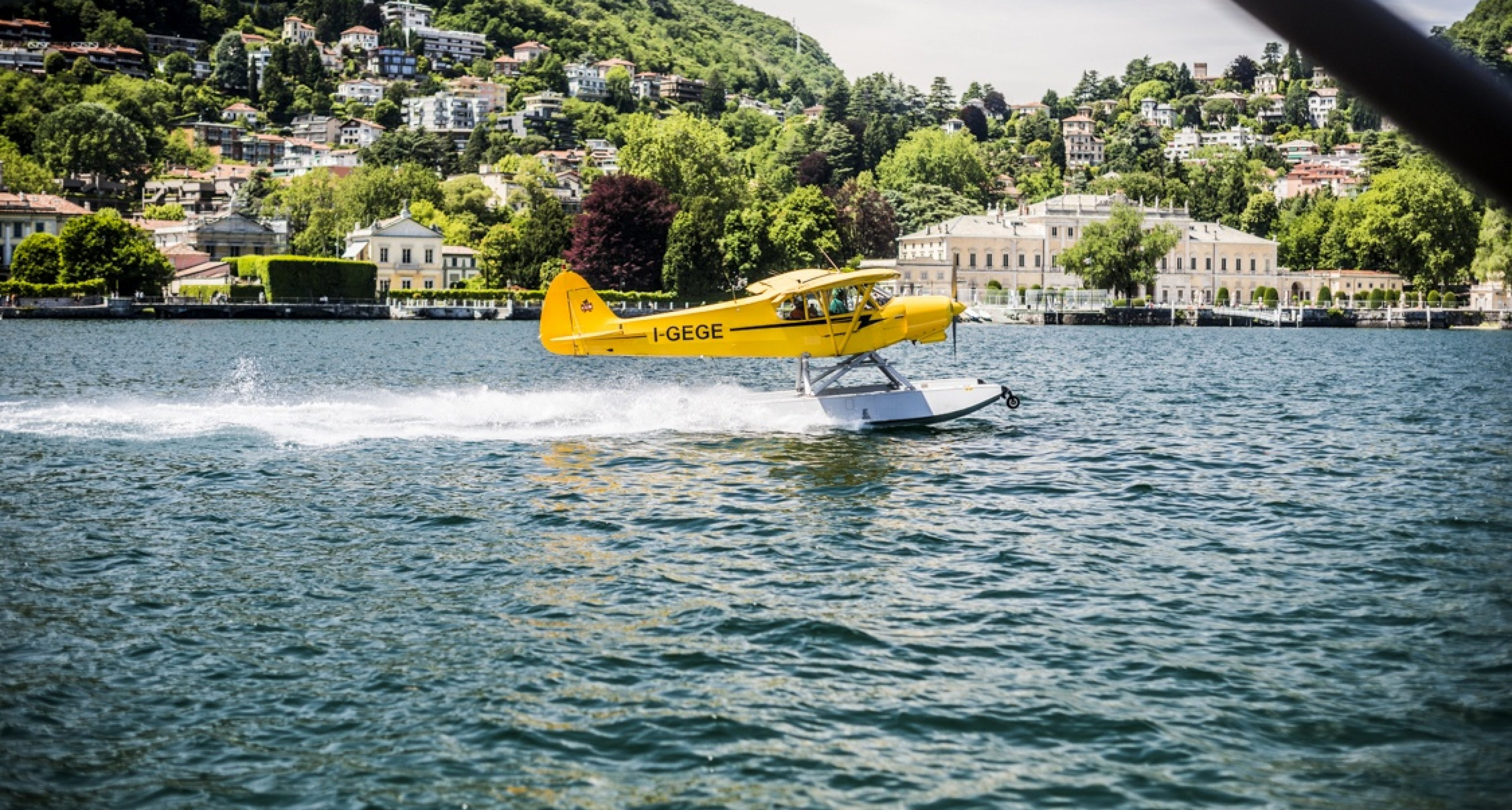 The only way to arrive at Lake Como – by vintage seaplane