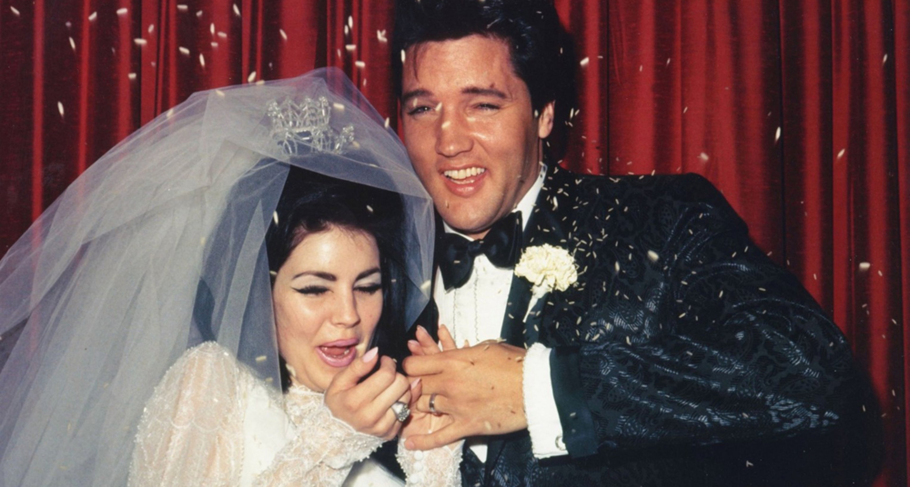 Just married: Elvis and Priscilla Presley on May 1, 1967.
